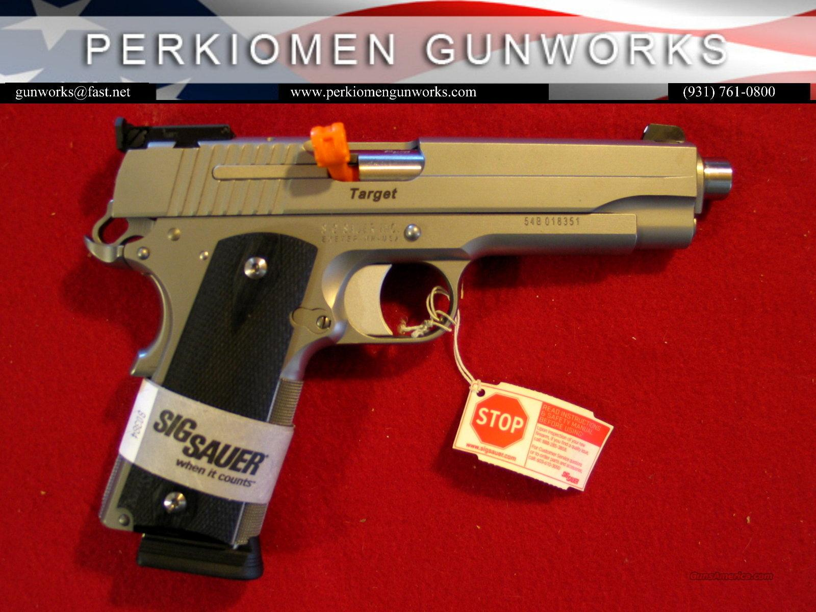 "1911 Stainless Target, 45acp, 5"", New in Box  Guns > Pistols > Sig - Sauer/Sigarms Pistols > 1911"