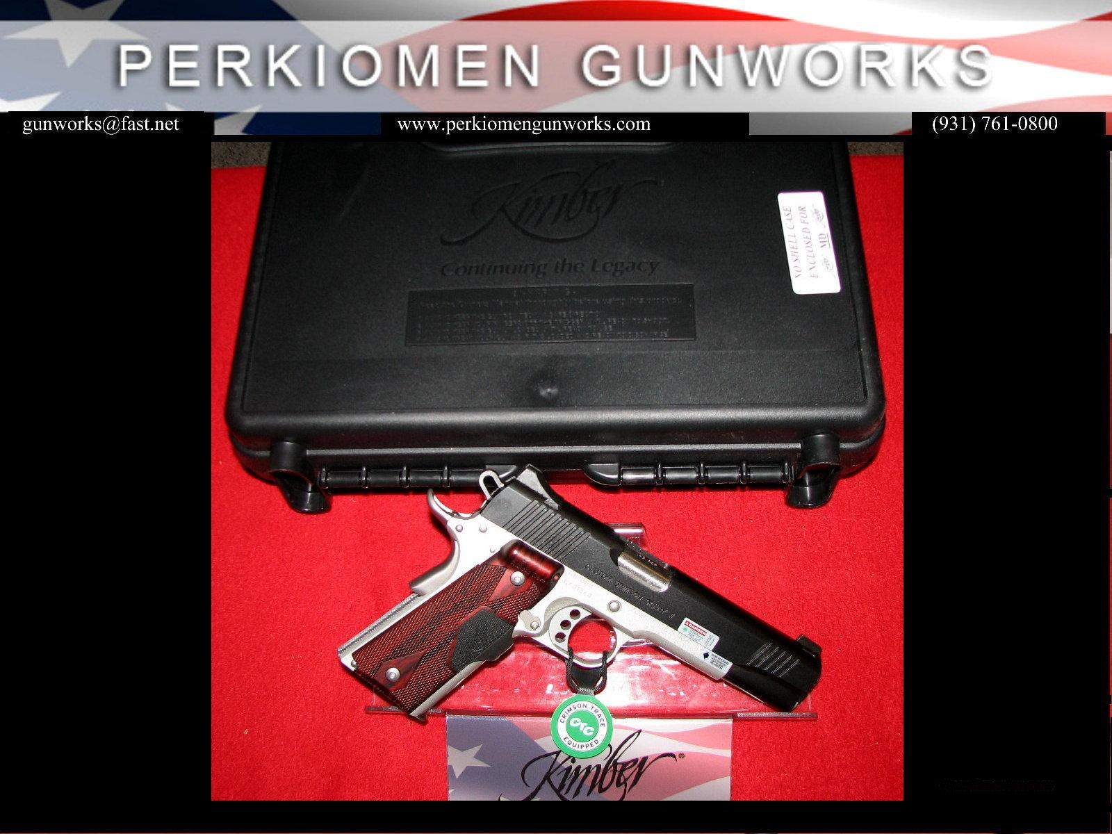 "Custom Crimson Carry II (GREEN), 45acp, 5"" w/Green Laser beam grips, New in Box (Retirement – Closeout)  Guns > Pistols > Kimber of America Pistols"