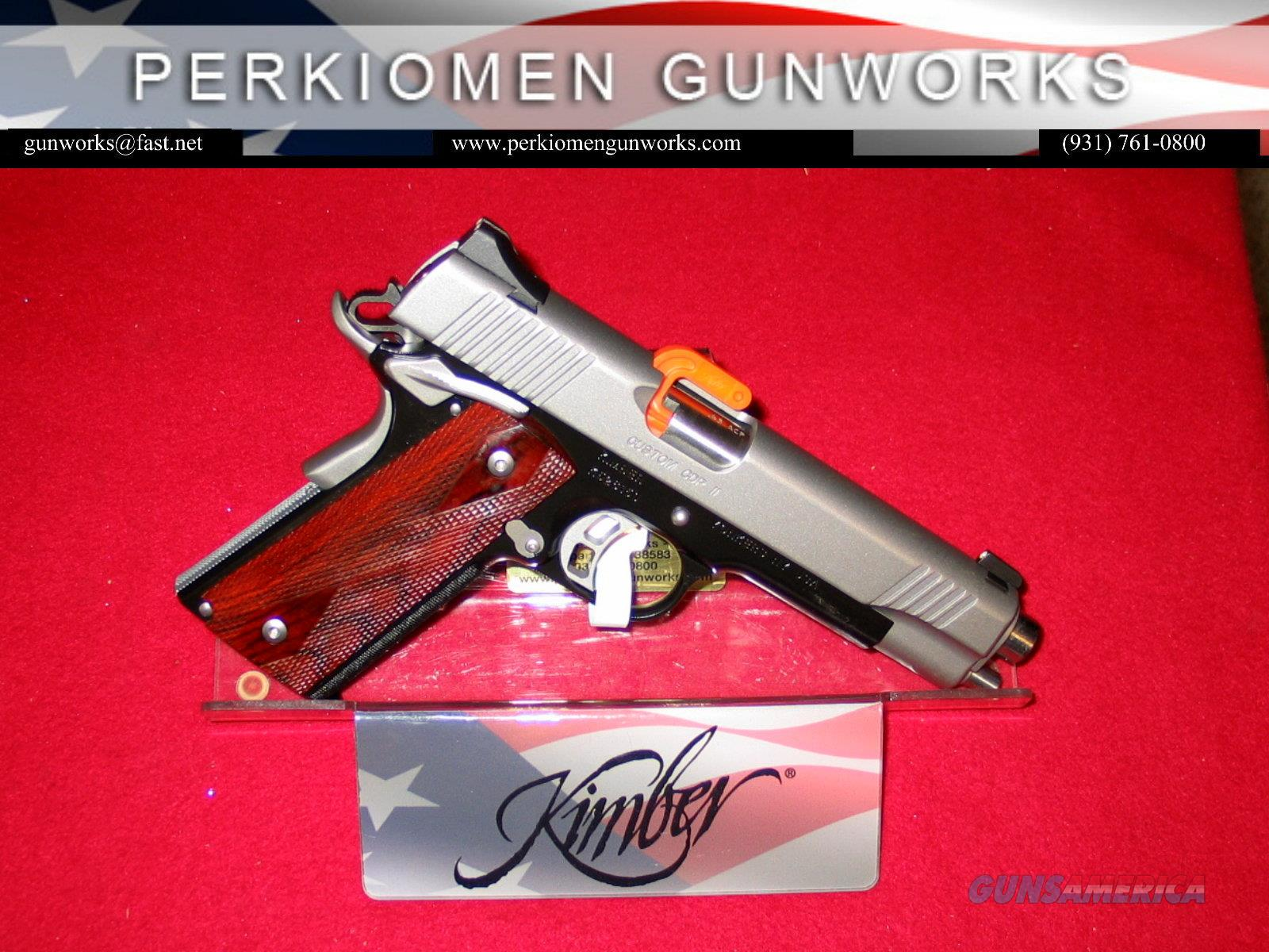 "Custom CDP II, 5"", .45acp, new in Box - Retirement Closeout.  Guns > Pistols > Kimber of America Pistols"