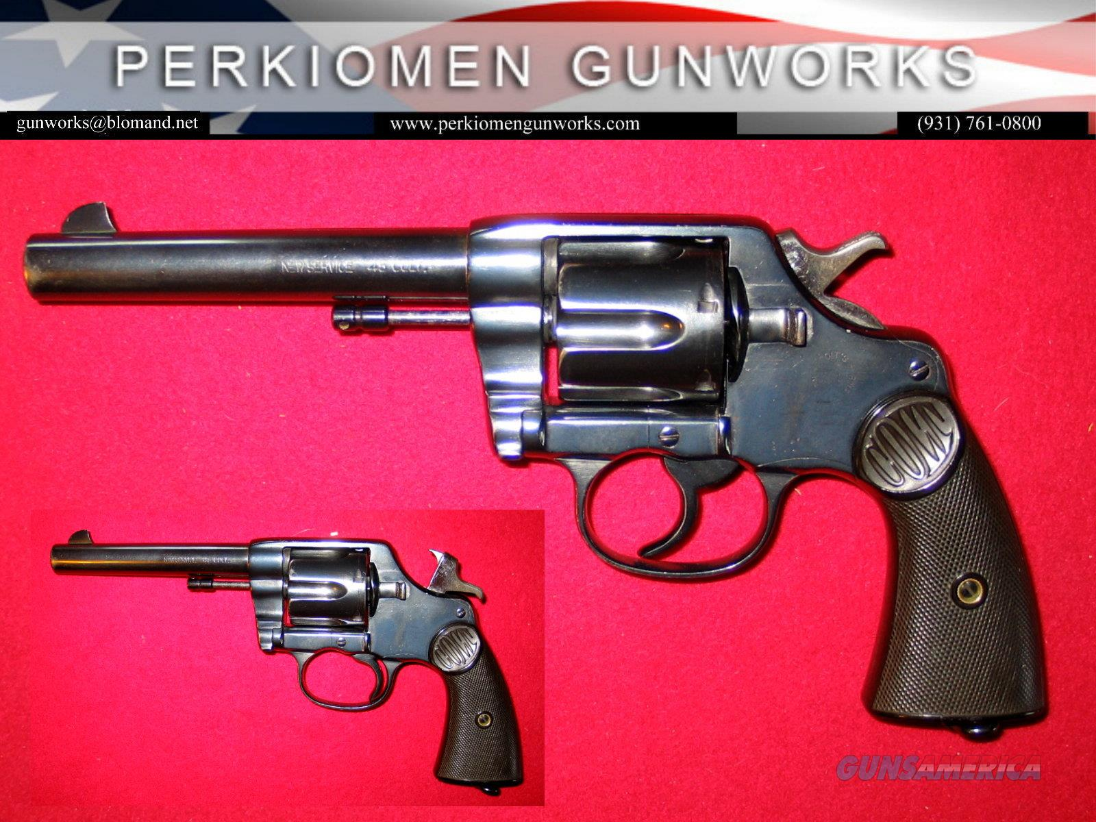 New Service .45LC, 5.5 inch, blued revolver dates 1900  Guns > Pistols > Colt Double Action Revolvers- Modern