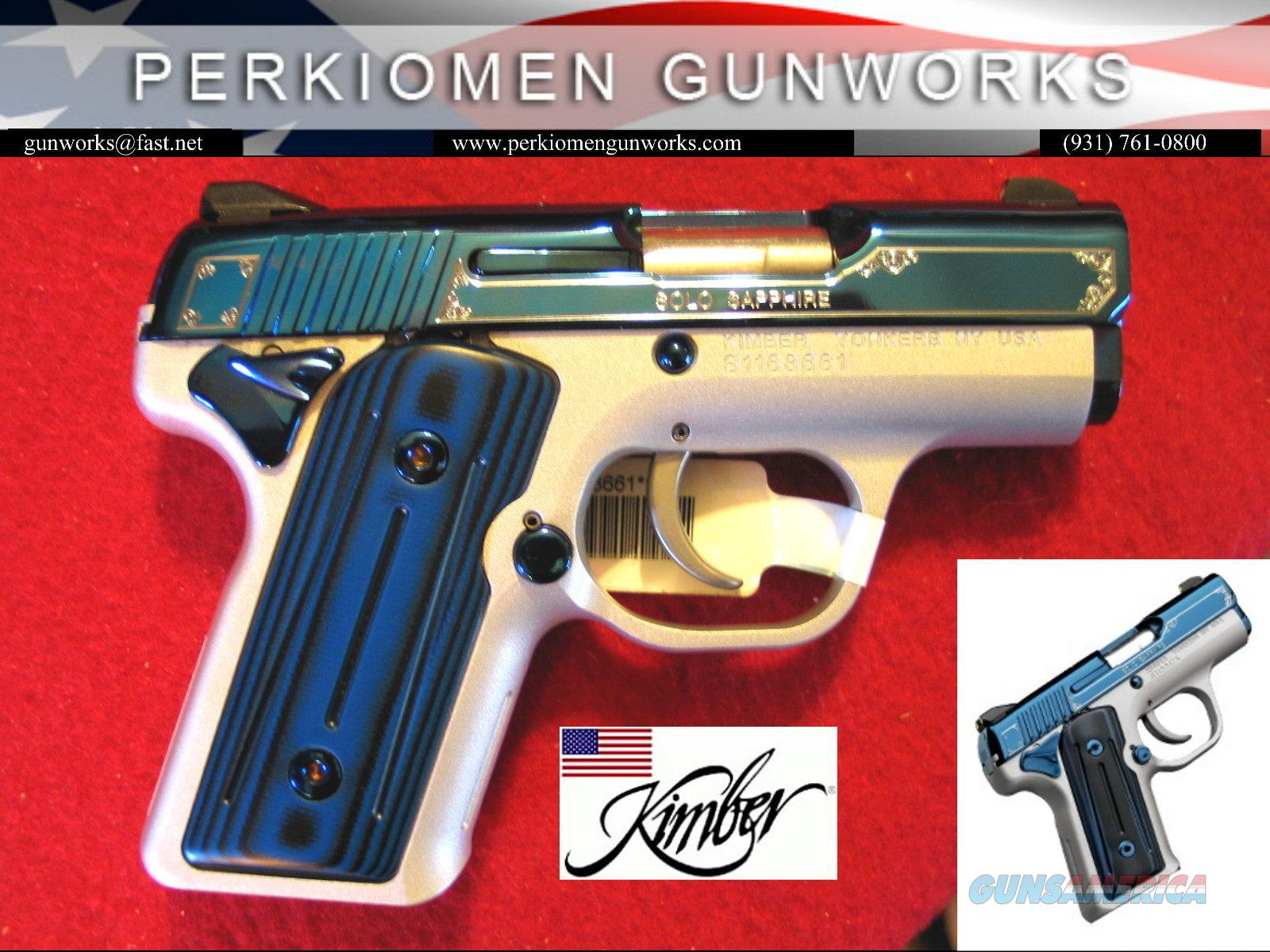 Solo Sapphire 9MM New in Box / ON SALE from $1169.00  Guns > Pistols > Kimber of America Pistols
