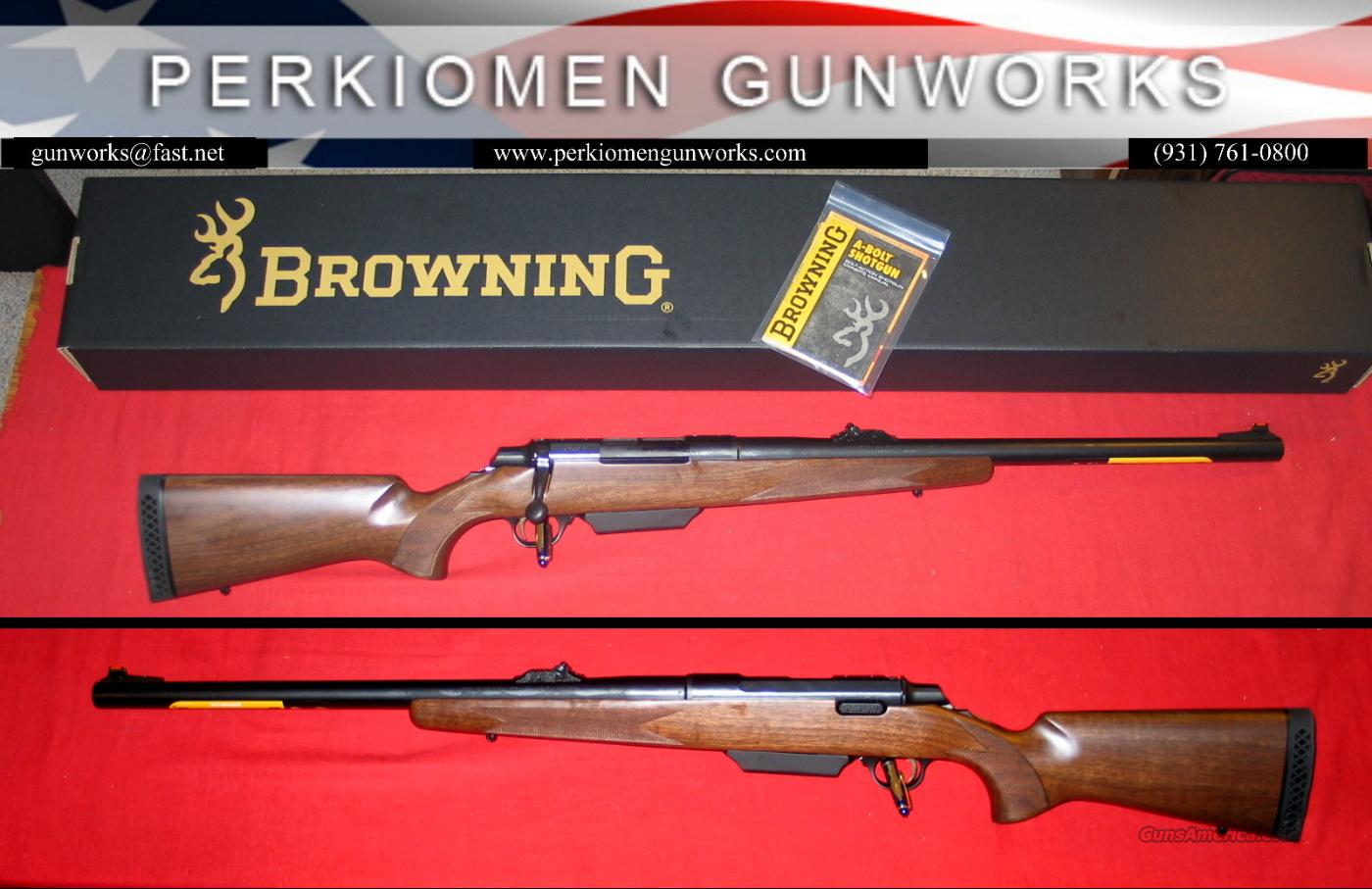 A-Bolt Shotgun Hunter 12ga, Walnut - NIB  Guns > Shotguns > Browning Shotguns > Single Barrel