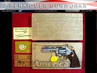 "Colt Diamondback 4"" Nickel 38 Special  Colt Double Action Revolvers- Modern"