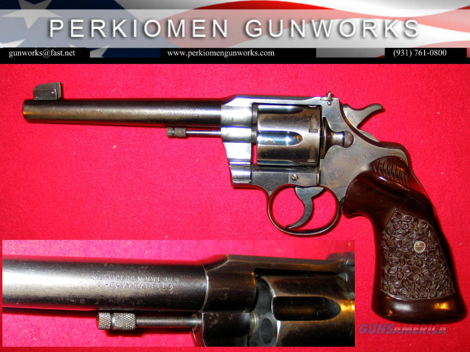 Officers Model Target 3rd Issue, Heavy Barrel .38 special  Guns > Pistols > Colt Double Action Revolvers- Pre-1945