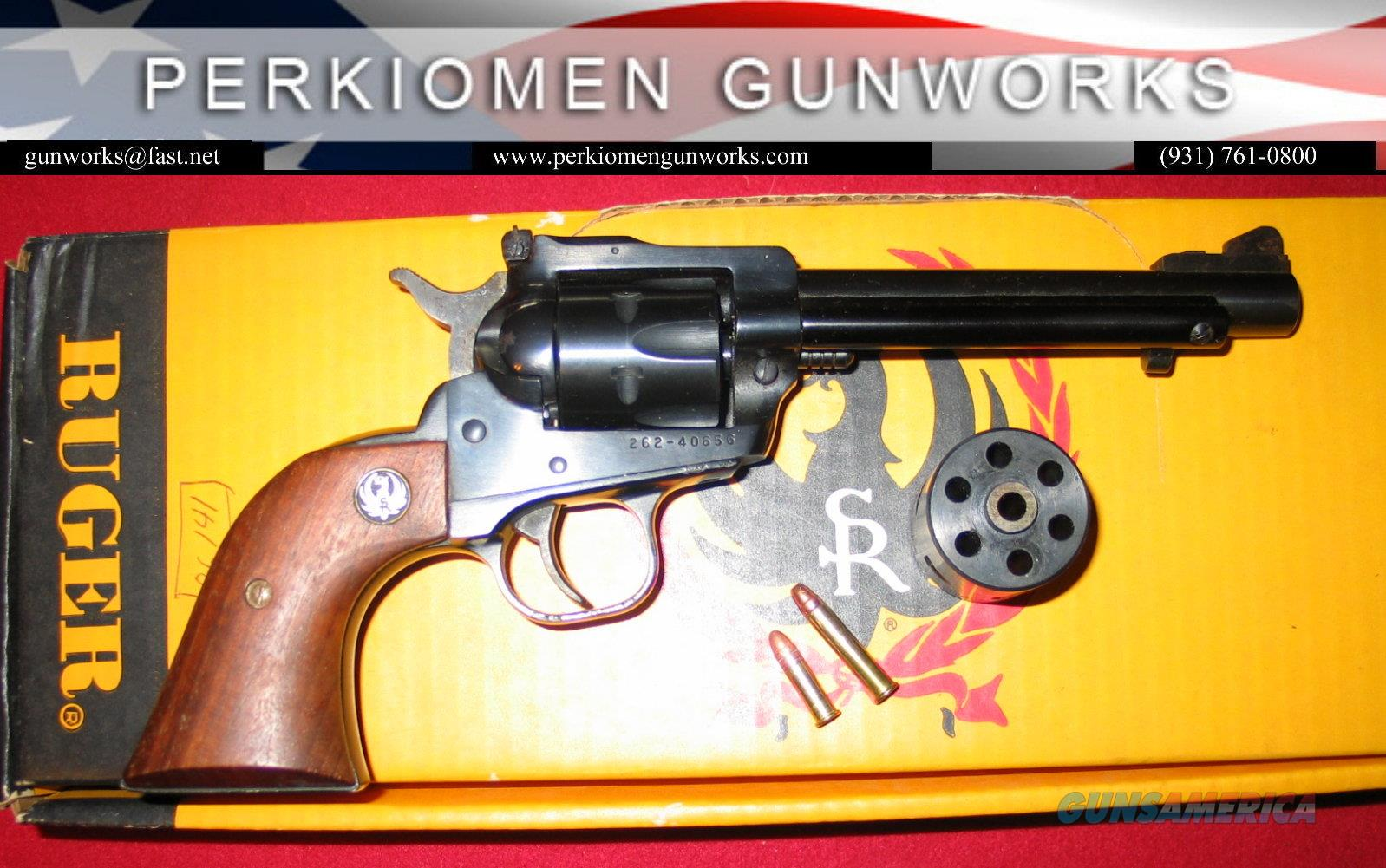 "New Model Single-Six .22LR/.22Mag, 5.5"" blued, used w/box  Guns > Pistols > Ruger Single Action Revolvers > Single Six Type"
