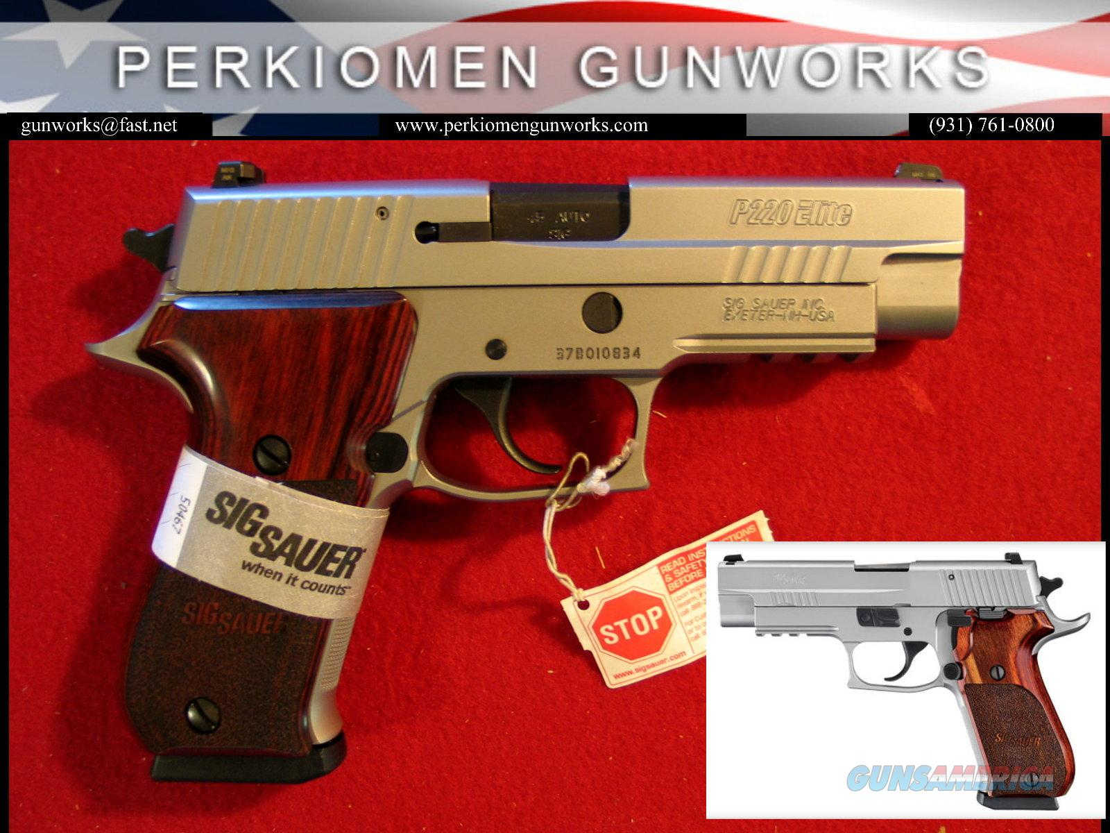 P220 Elite Stainless, 45acp, New in Box  Guns > Pistols > Sig - Sauer/Sigarms Pistols > P220