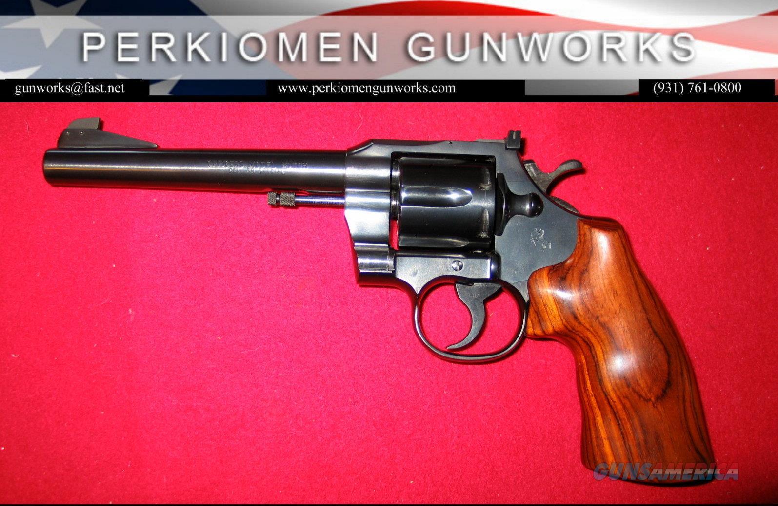 Officer's Model Match .38 Spec, 6 inch, blued  Guns > Pistols > Colt Double Action Revolvers- Modern
