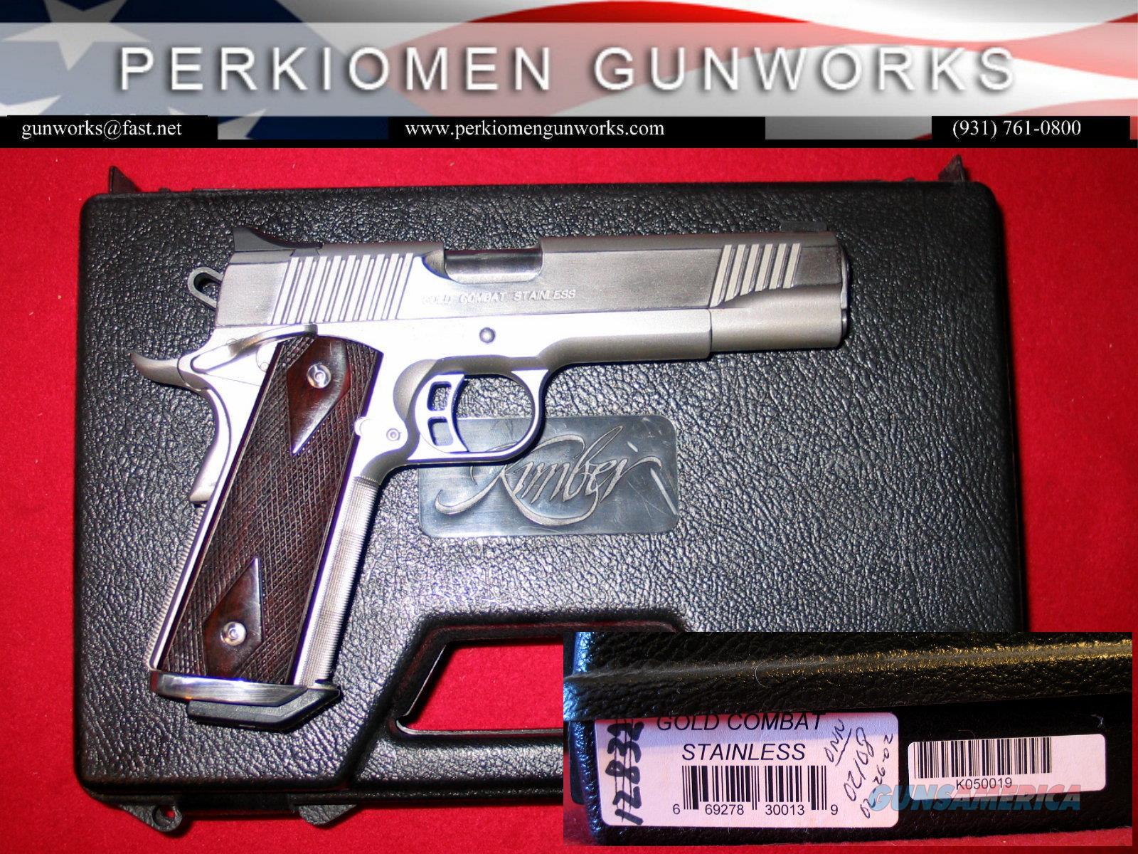 "Gold Combat Stainless / SERIES 1 / 45acp, 5"", 1999 gun w/original everything!!  Guns > Pistols > Kimber of America Pistols > 1911"