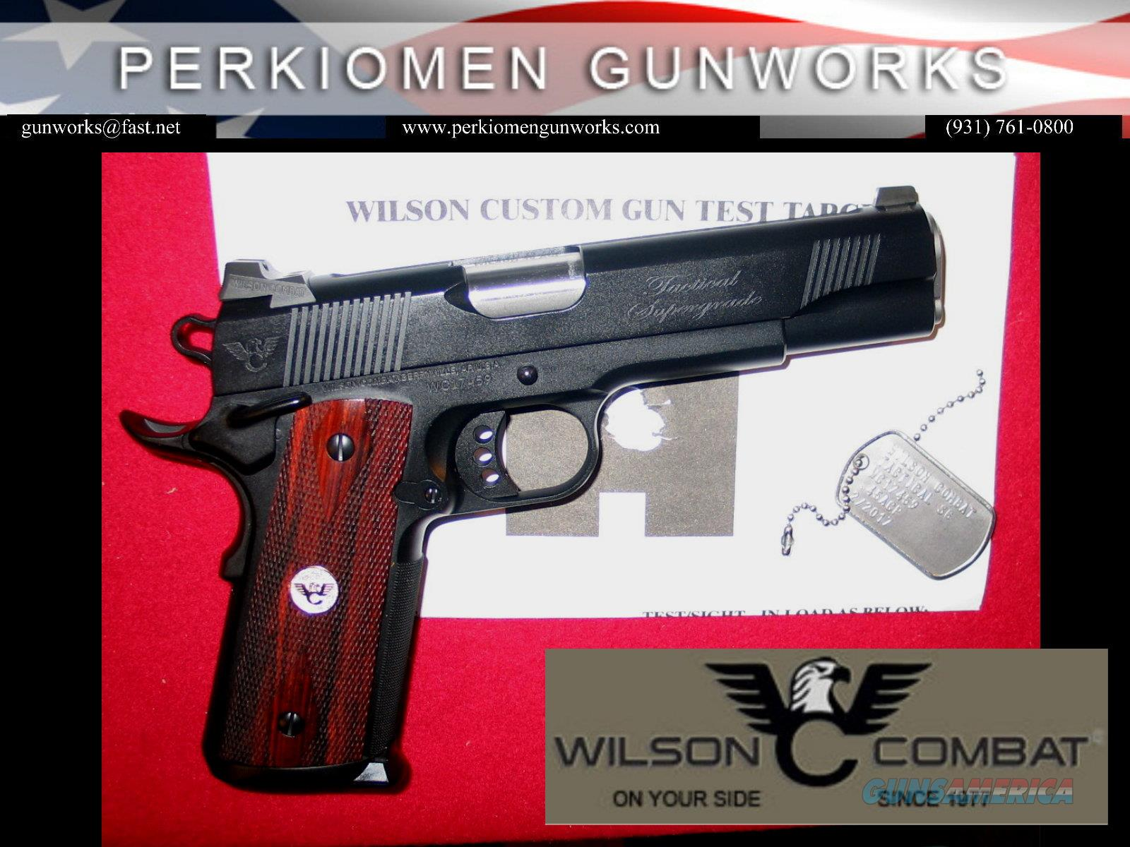 Tactical SUPERGRADE, .45acp w/Additional Options, NIB  Guns > Pistols > Wilson Combat Pistols