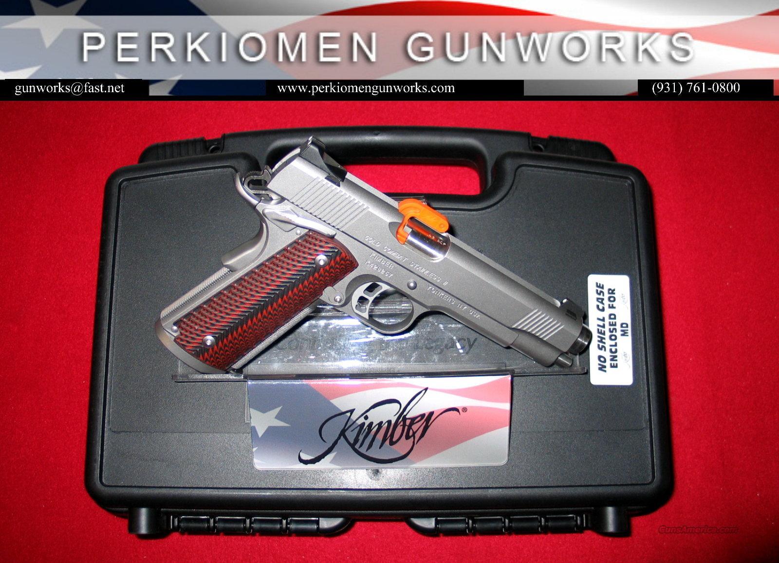 "Gold Combat Stainless, 45acp, 5"", Custom Shop, New in Box  Guns > Pistols > Kimber of America Pistols"