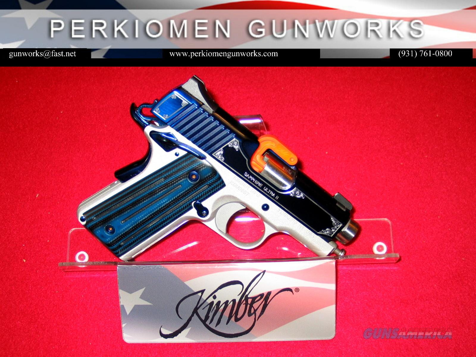 "Sapphire Ultra, Limited Edition, 3"", 9mm, New in Box  Guns > Pistols > Kimber of America Pistols"
