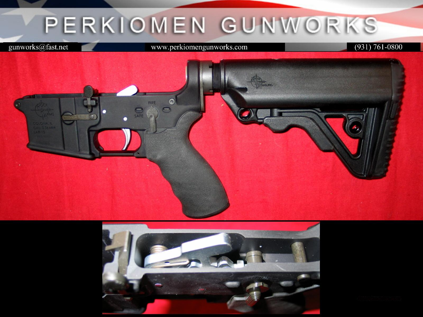 LAR-15 NM Complete Lower w/extras Chrome Trigger, Operator Stock+- NEW  Guns > Rifles > Rock River Arms Rifles