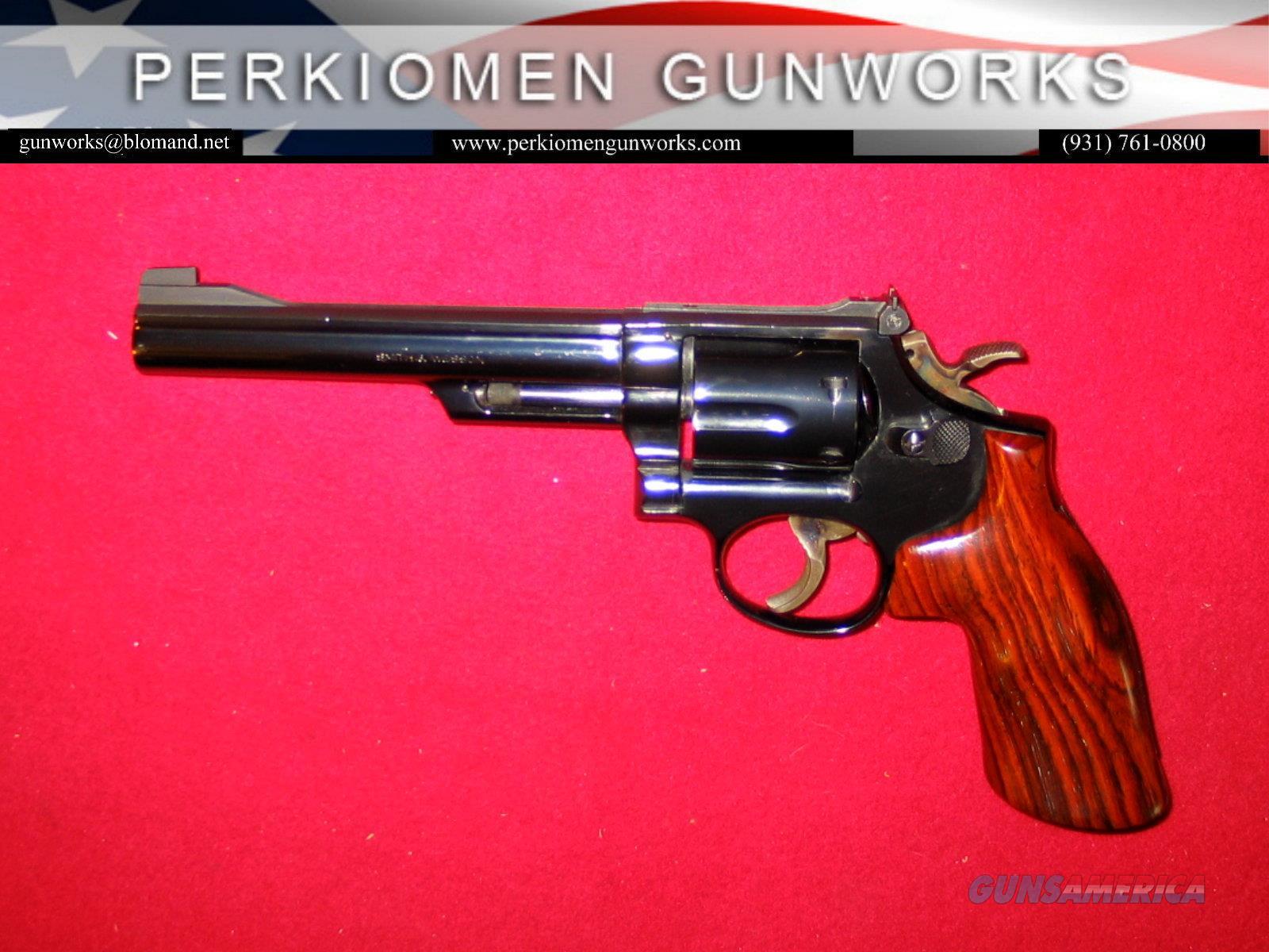 """19-3 .357/.38SP, 6"""", Blued, Target trigger & hammer  Guns > Pistols > Smith & Wesson Revolvers > Med. Frame ( K/L )"""