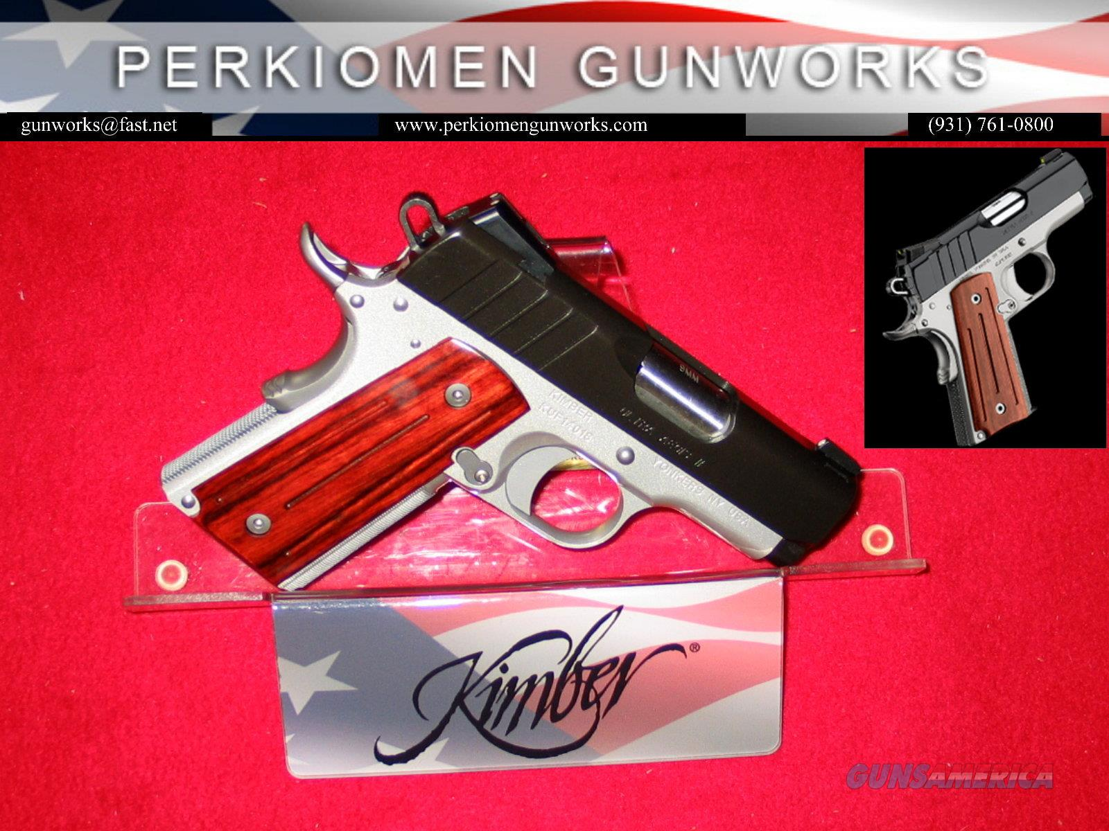 Ultra AGEIS, 9MM, 3' w/Night sights - New in Box, Discontinued and on Closeout.  Guns > Pistols > Kimber of America Pistols