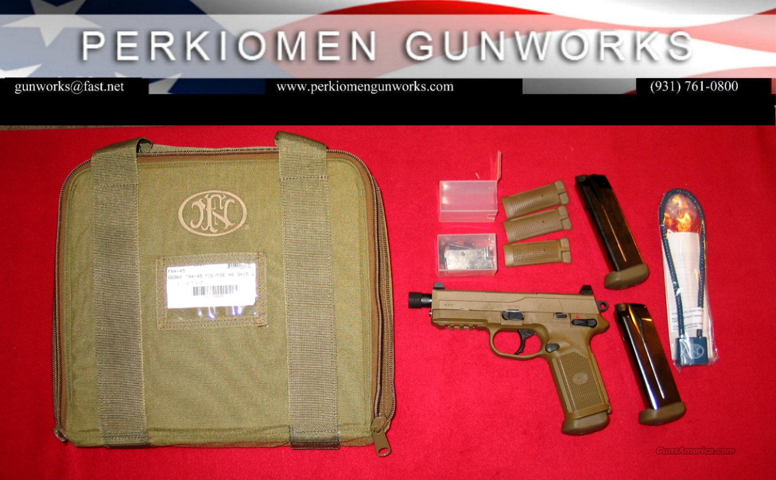 FNX-45 Tactical / Flat Dark Earth, 45acp, New w/case  Guns > Pistols > FNH - Fabrique Nationale (FN) Pistols > FNP
