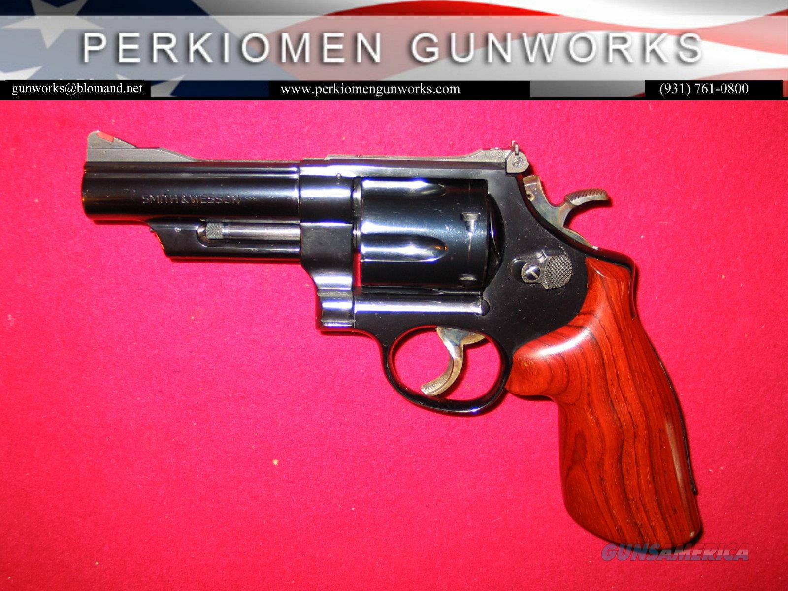 "M-57 Blued , .41 mag., 4 inch heavy bbl., ""The .41 Magnum Target""  Guns > Pistols > Smith & Wesson Revolvers > Full Frame Revolver"