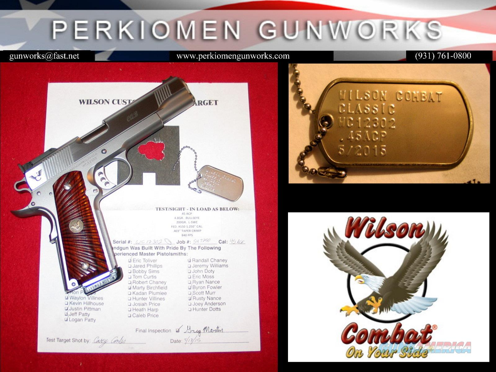 "Classic CQB .45acp, 5"", Stainless Upgrade with options - New  Guns > Pistols > Wilson Combat Pistols"