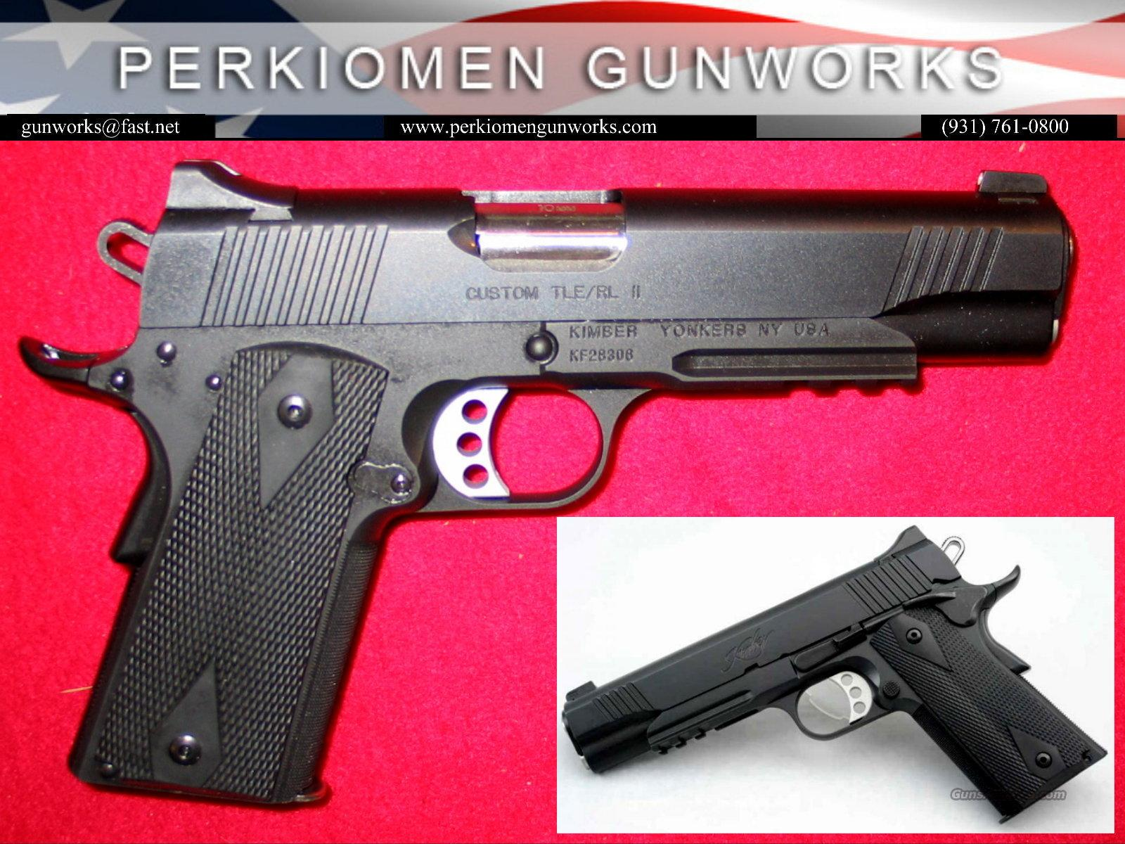 "Custom TLE-RL, 10MM, 5"" w/rail. New in Box.  Guns > Pistols > Kimber of America Pistols"