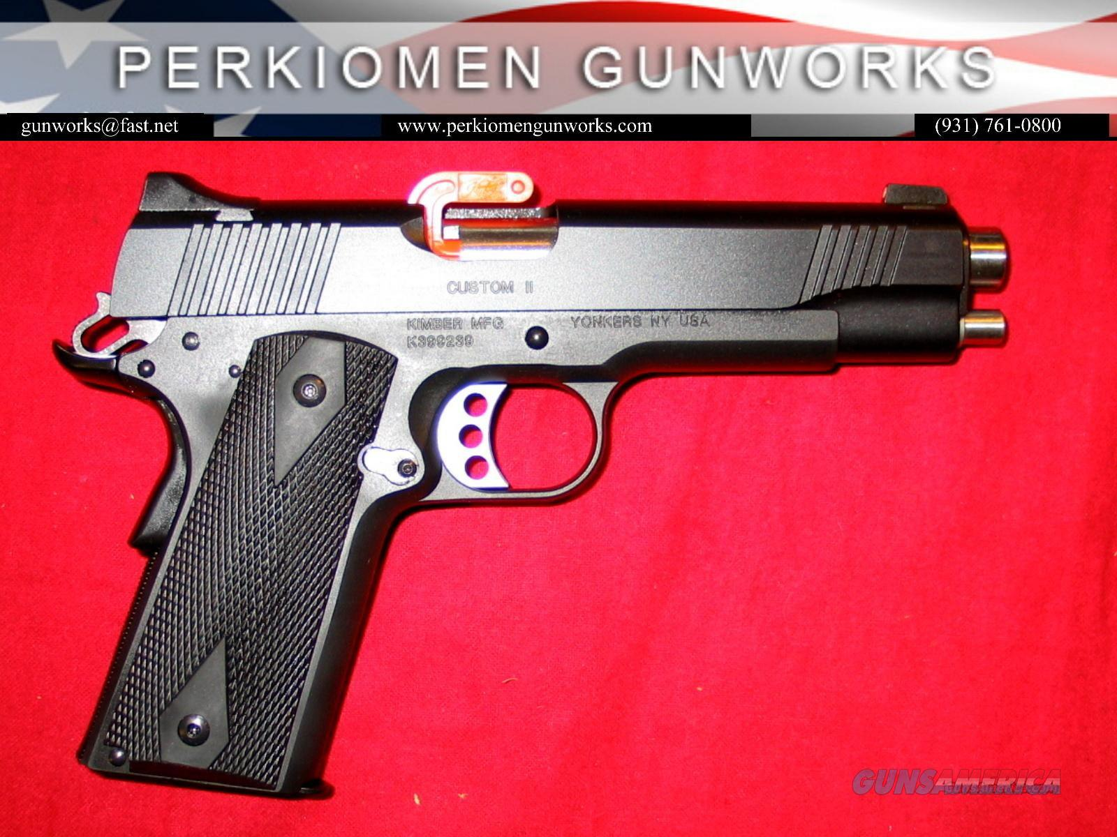 "Custom II w/Night Sights, 45acp, 5"", New in Box.  Guns > Pistols > Kimber of America Pistols"