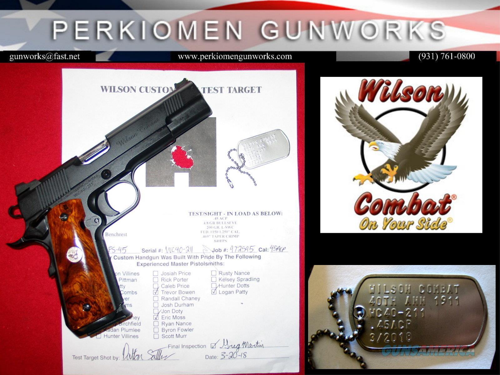 Wilson Combat 40th Anniversary 1911, .45acp, CQB Elite Model  Guns > Pistols > Wilson Combat Pistols