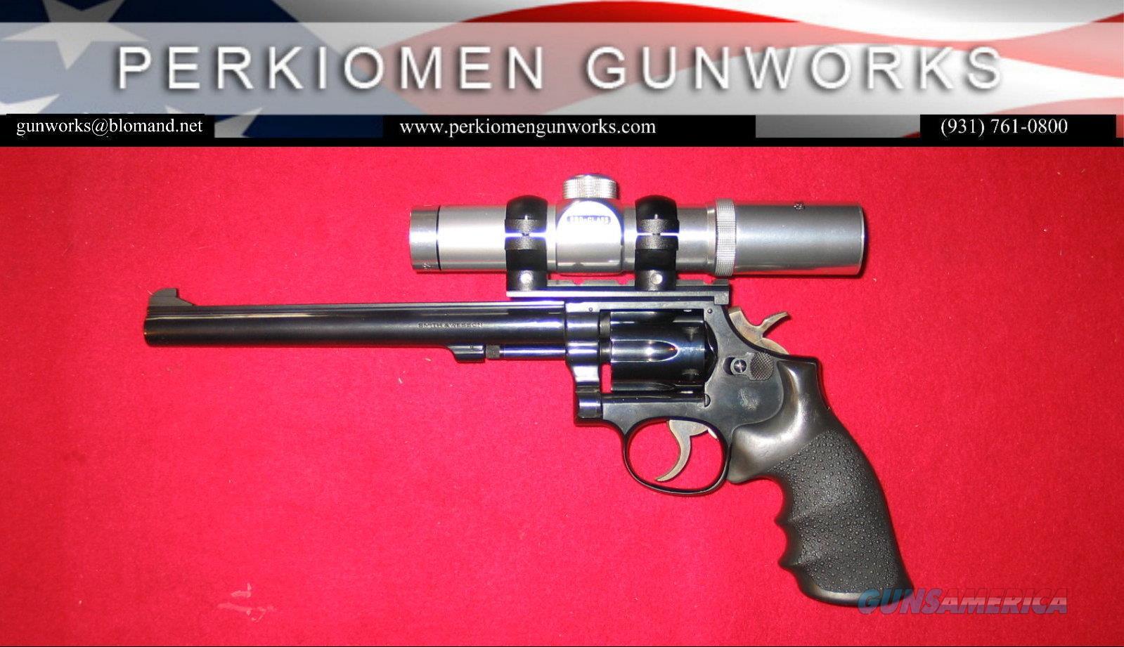 "48-4 ""The K-22 Masterpiece Magnum Rimfire"", 8 3/8 w/scope  Guns > Pistols > Smith & Wesson Revolvers > Med. Frame ( K/L )"
