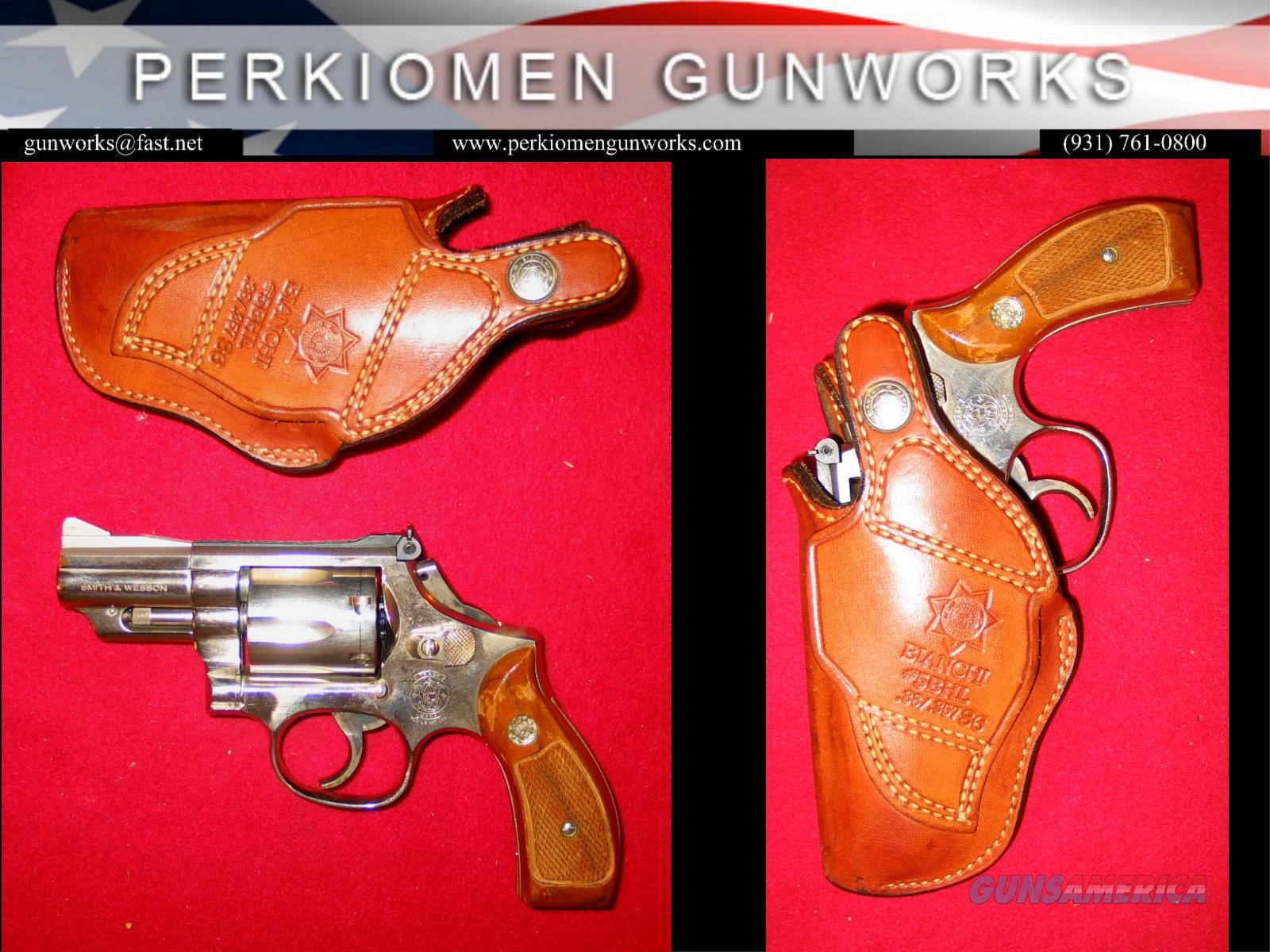 "M-19-5, 2.5"", NK w/custom work and holster.  Guns > Pistols > Smith & Wesson Revolvers > Med. Frame ( K/L )"