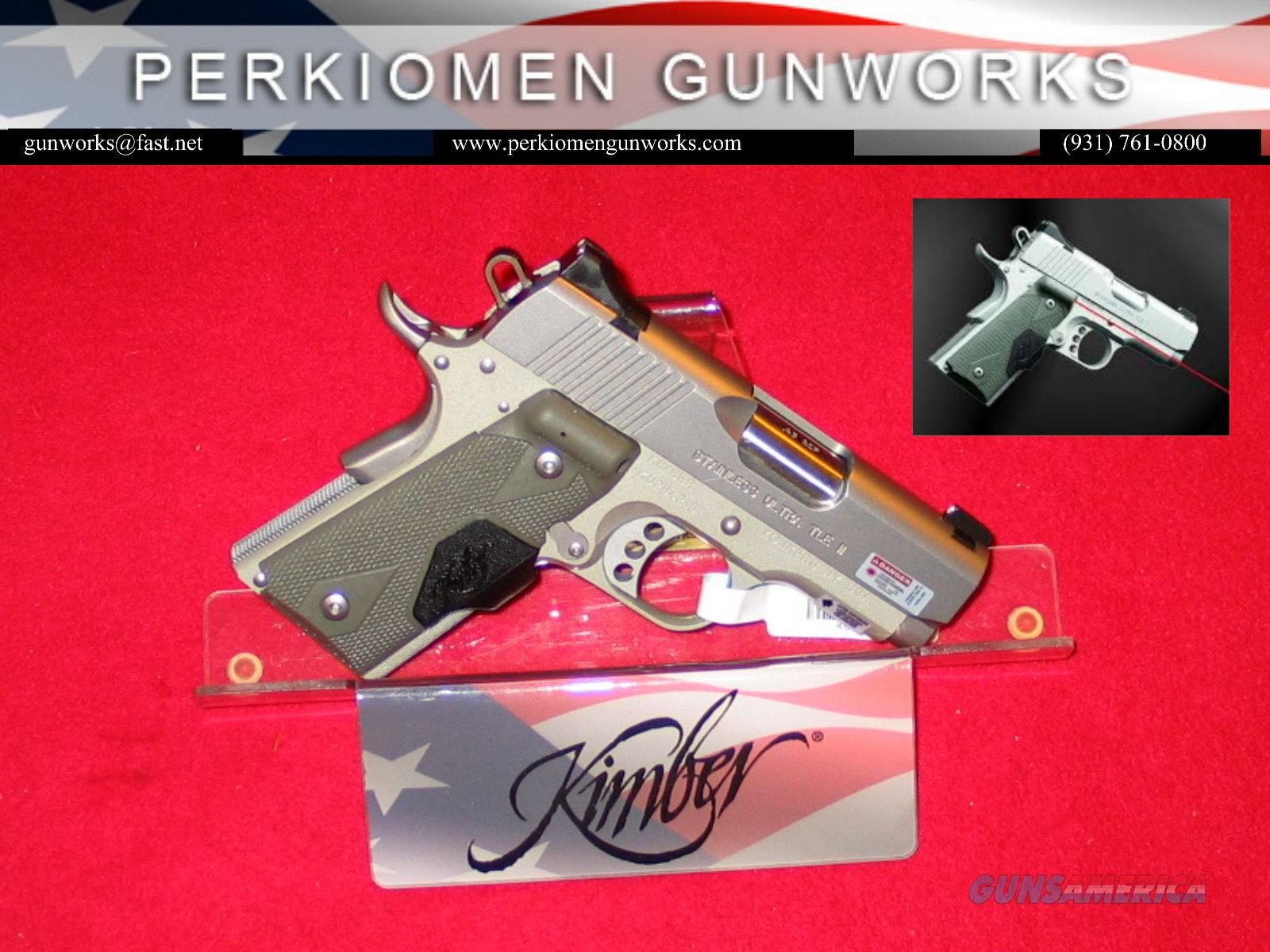 Stainless Ultra TLE (LG), 45acp, 3' w/Laser grips & Night Sights - New in Box  Guns > Pistols > Kimber of America Pistols