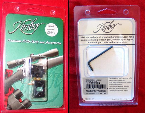 Kimber K-22 / 84 L or M scope bases - Polished Blue  Non-Guns > Scopes/Mounts/Rings & Optics > Mounts > Other