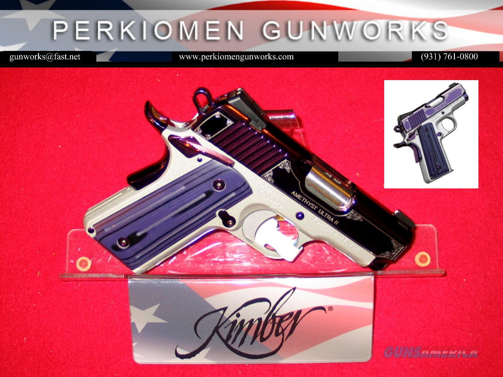 "AMETHYST Ultra II, .45acp, 3"", Special Edition, New in Box  Guns > Pistols > Kimber of America Pistols > 1911"