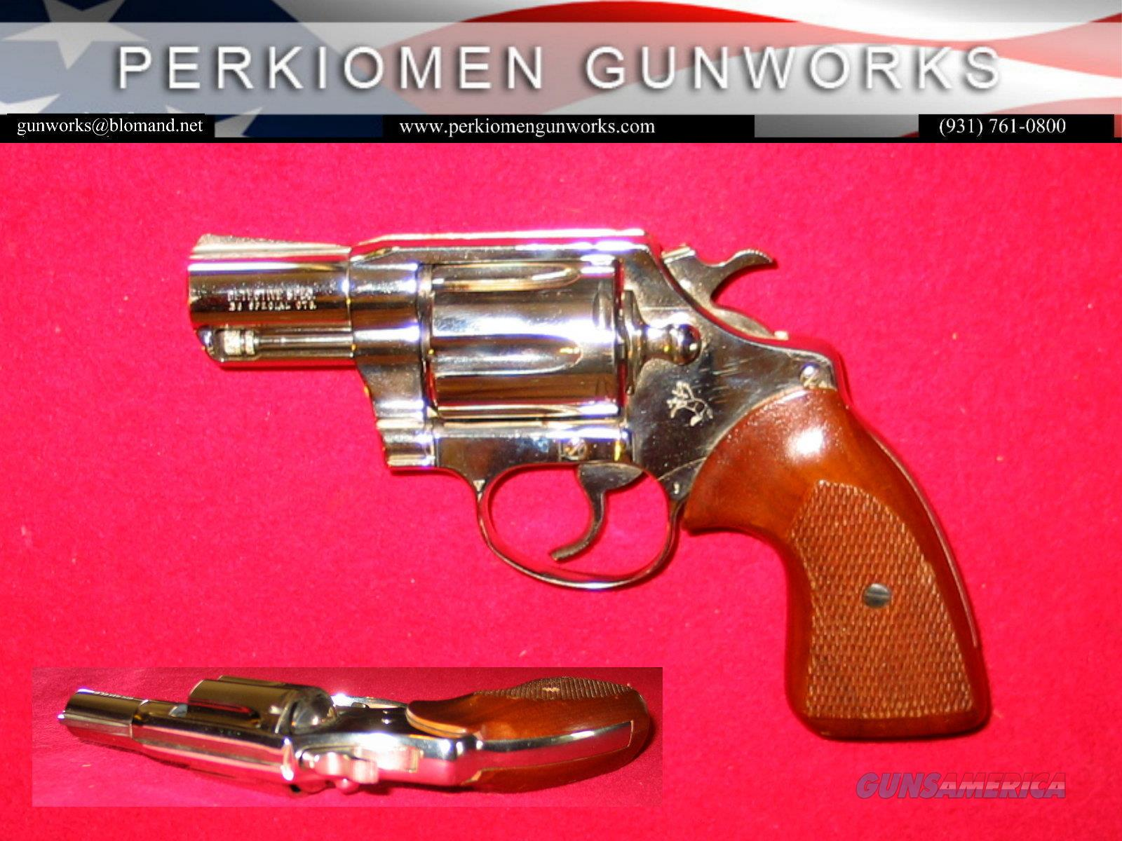 Detective Special (3rd issue) .38 Special, 2 inch, Nickel, dates 1982  Guns > Pistols > Colt Double Action Revolvers- Modern