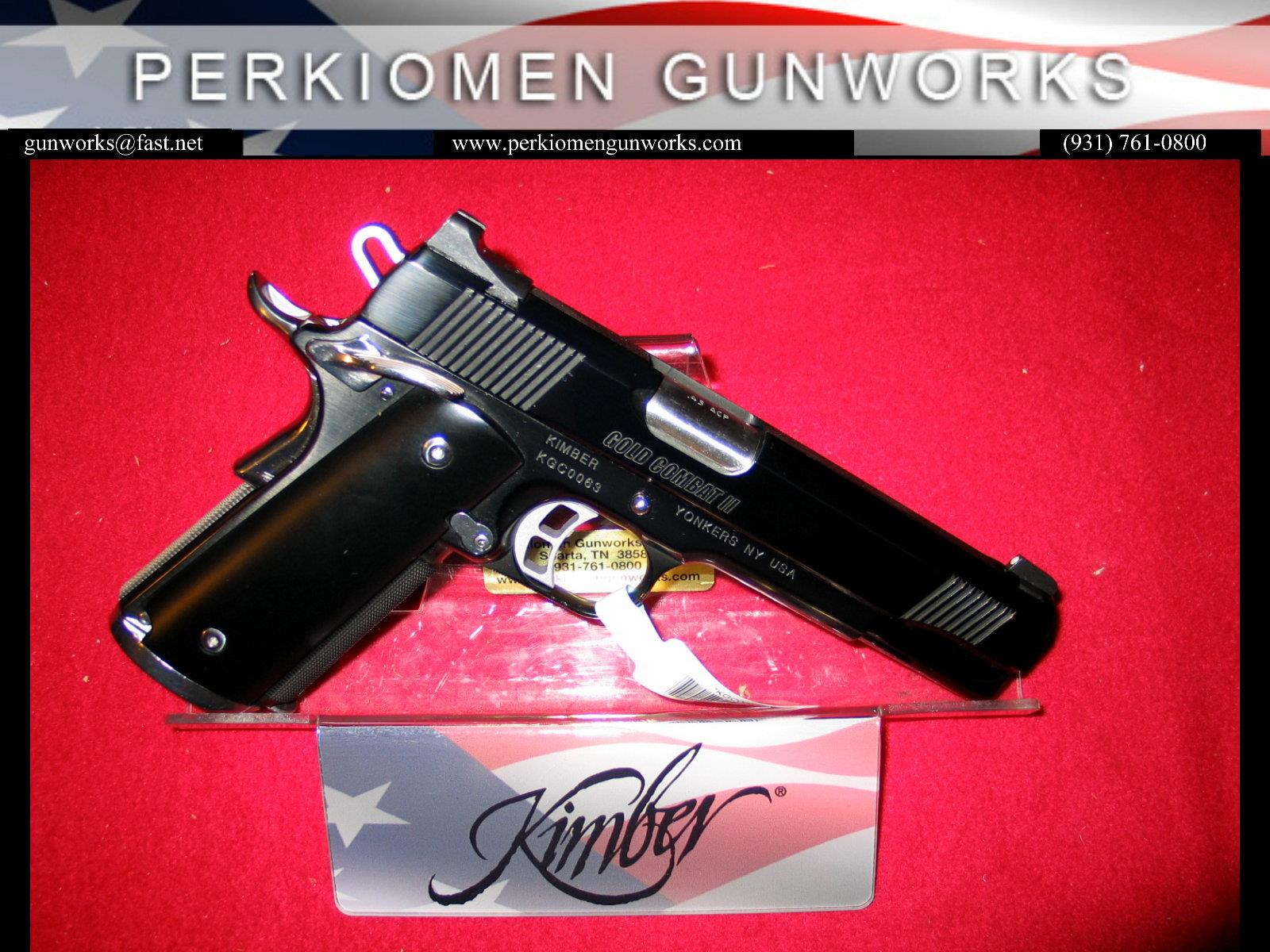 "Gold Combat II Limited Edition .45acp, 5"", Black Mirror Finish - New in Box  Guns > Pistols > Kimber of America Pistols"