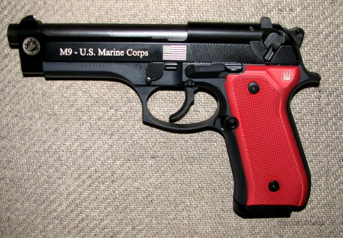 92f Usmc Ltd Edition 9mm W 3 Hi Caps For Sale