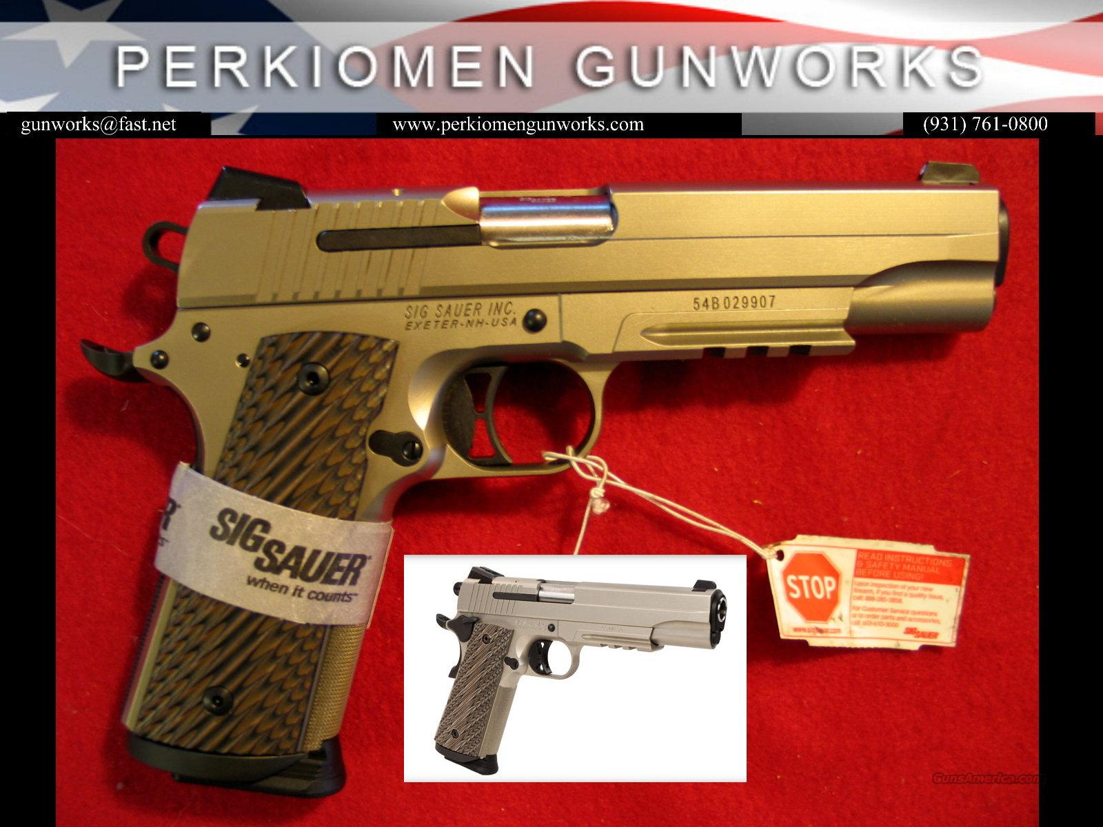 "1911 Nickel Rail, 45acp, 5"", Slite, New in the Box.  Guns > Pistols > Sig - Sauer/Sigarms Pistols > 1911"