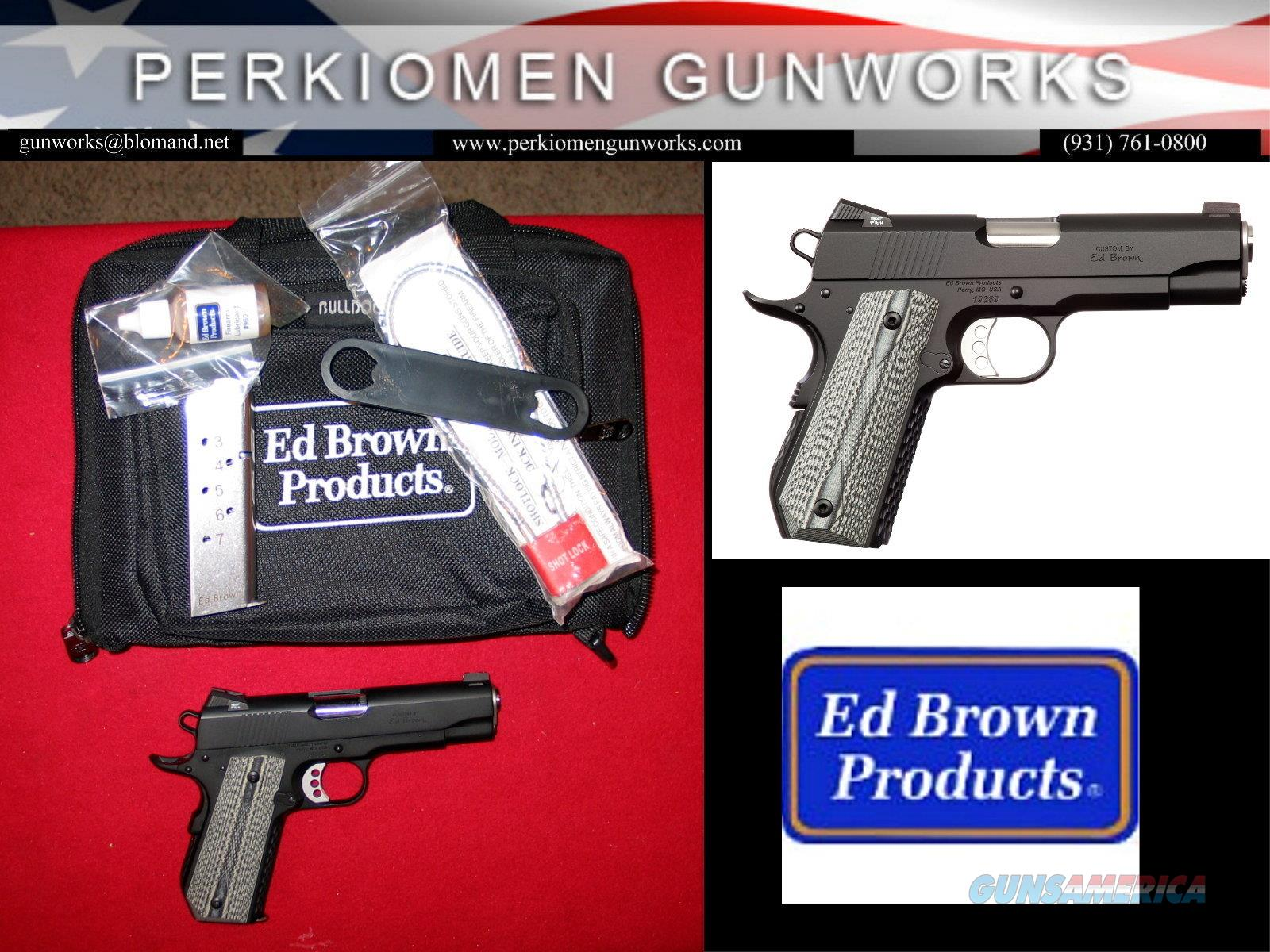 """Alpha Carry .45acp, 4.25"""", Black Stainless Steel, almost new!!  Guns > Pistols > Ed Brown Pistols"""