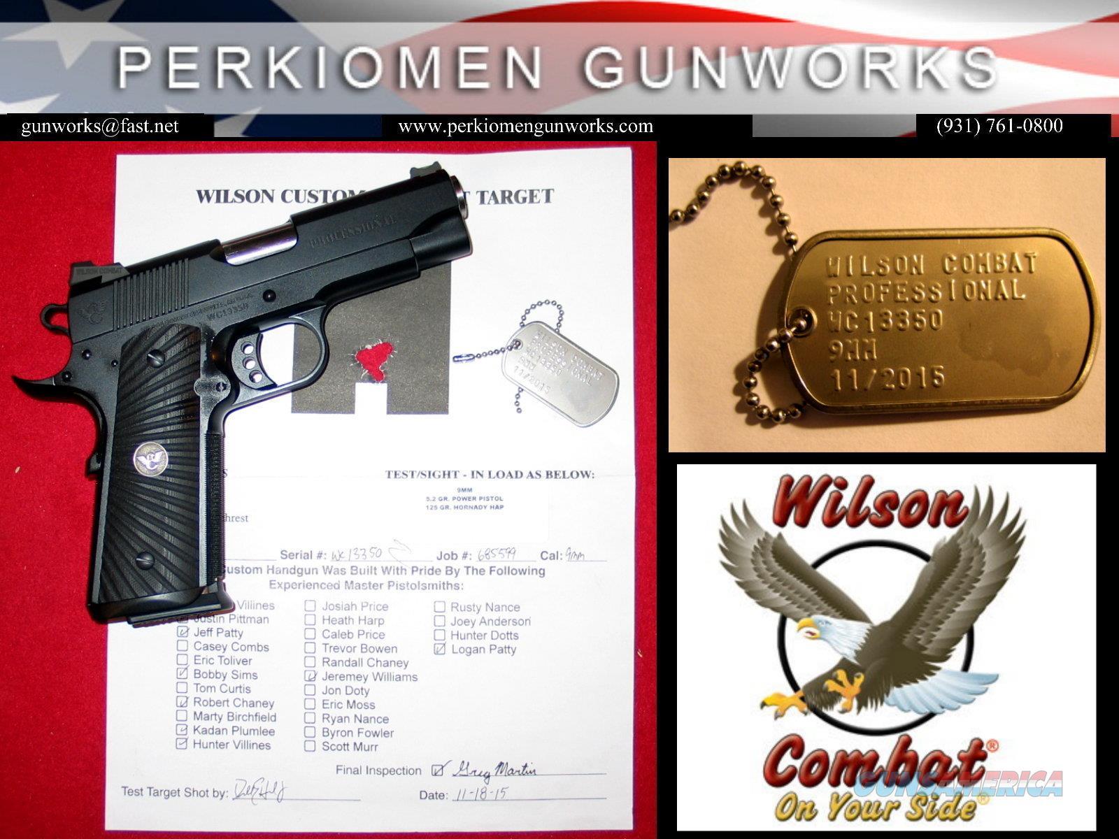 Professional 9mm, 4' w/options - New in Box  Guns > Pistols > Wilson Combat Pistols