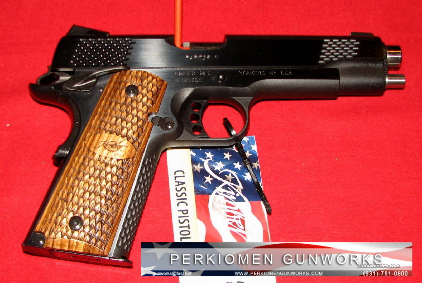 "Custom Raptor, 45acp, 5"", Blued, New in Box.  Guns > Pistols > Kimber of America Pistols"