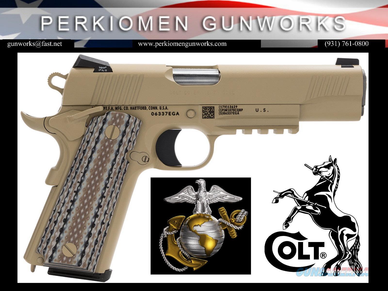"Govt. Marine Model 1911, 45acp, 5"", O1070M45, Desert Sand, New in Box  Guns > Pistols > Colt Automatic Pistols (1911 & Var)"