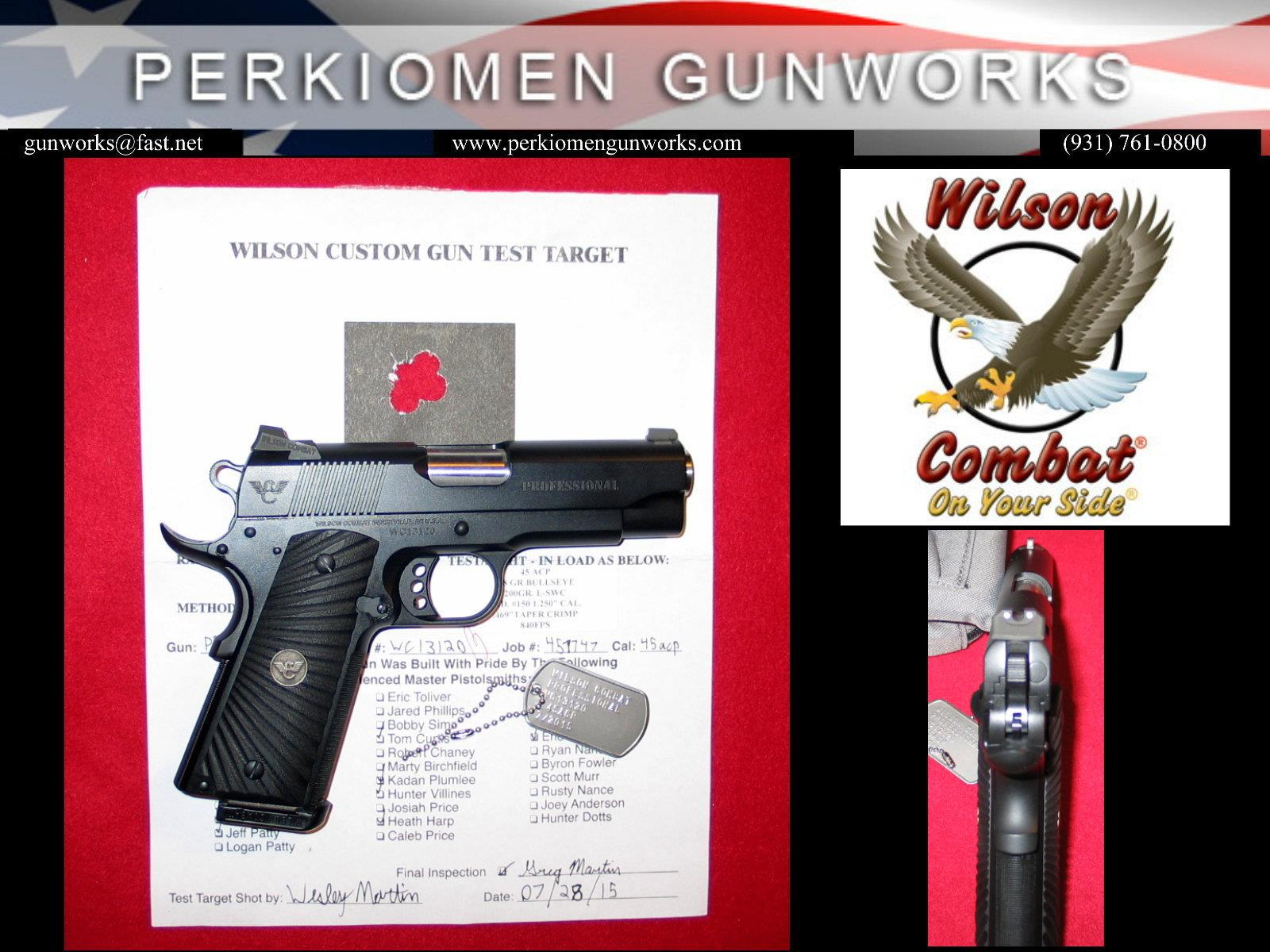 "Professional .45ACP, 4"" w/Options - New  Guns > Pistols > Wilson Combat Pistols"