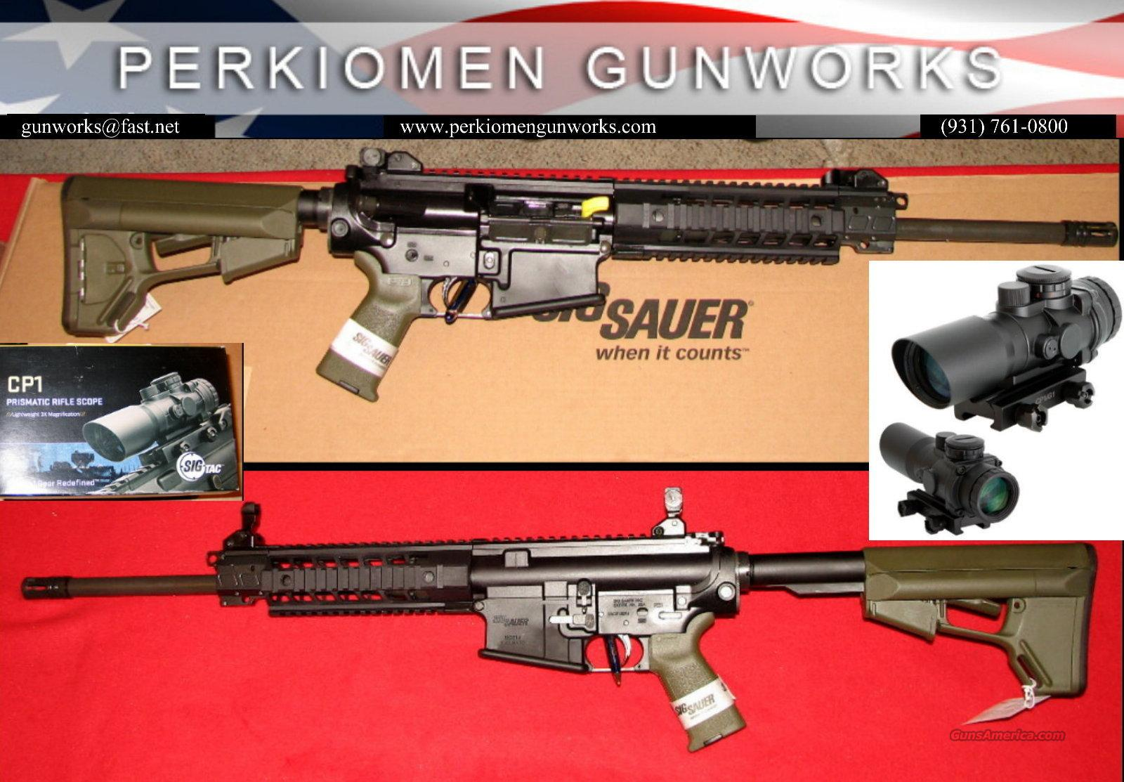 R716 Patrol .308 Piston Drive AR w/scope, ODG, NIB  Guns > Rifles > Sig - Sauer/Sigarms Rifles