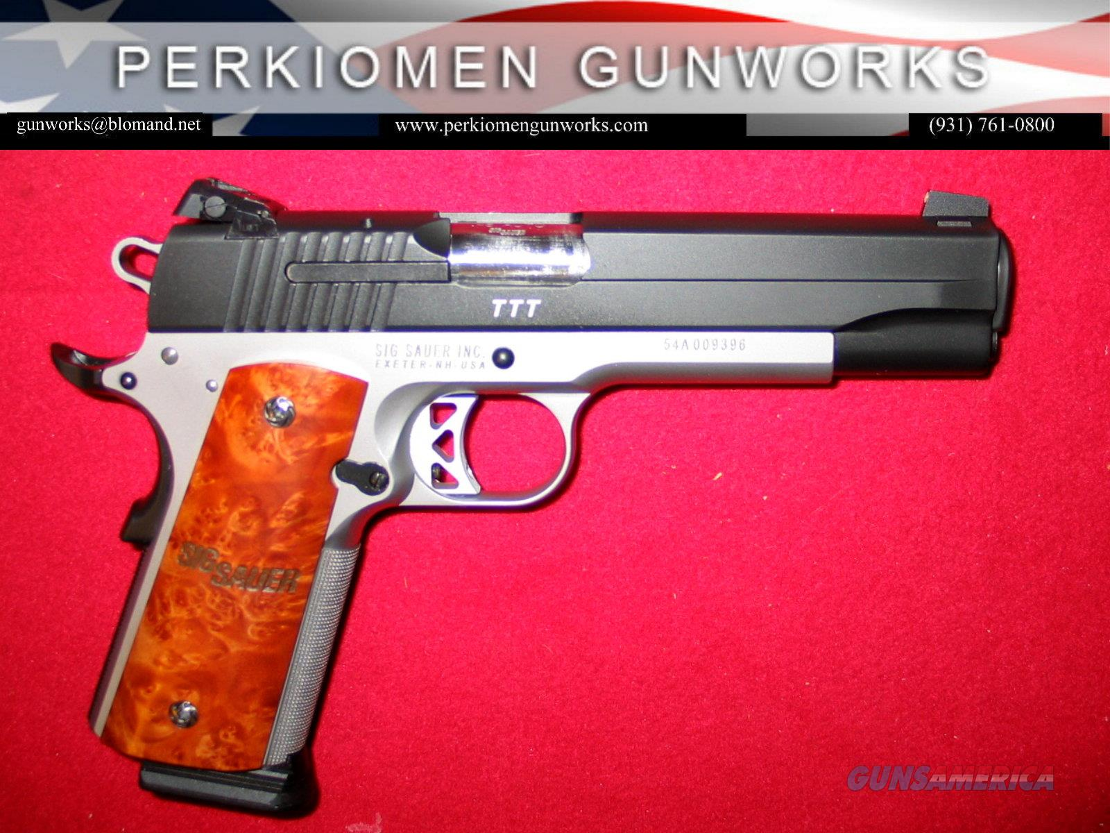 1911 TTT .45acp, 5 inch w/night sights  Guns > Pistols > Sig - Sauer/Sigarms Pistols > 1911