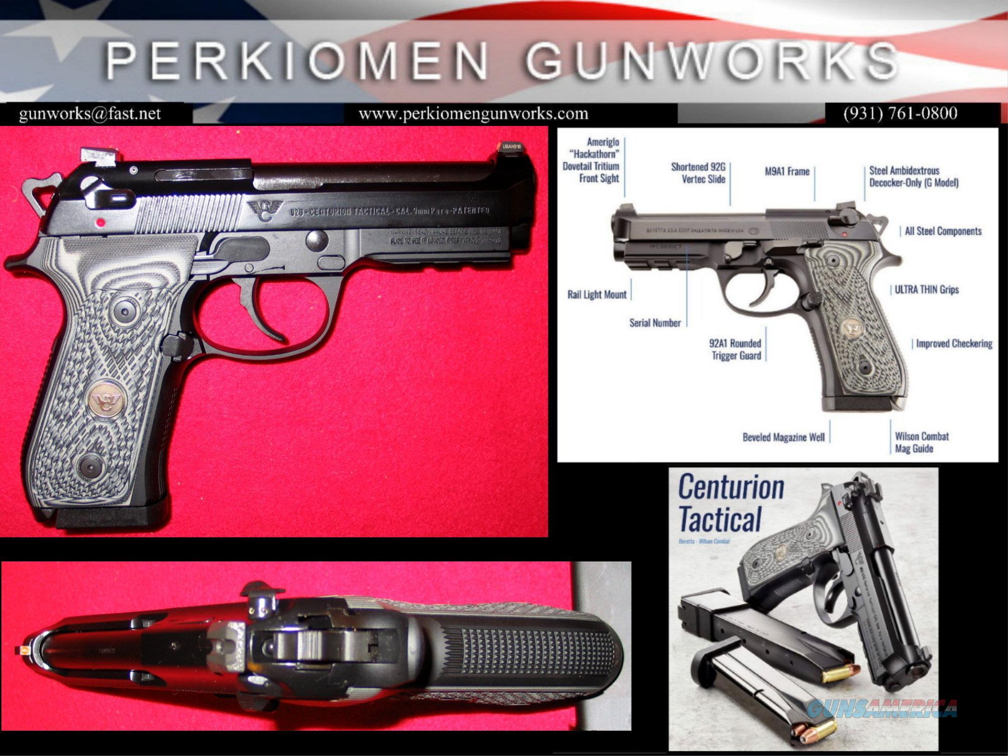 BERETTA / WILSON COMBAT 92G CENTURION TACTICAL 9MM, w/CHROME SILCON ACTION TUNE JOB INCLUDED, NIB  Guns > Pistols > Beretta Pistols > Model 92 Series