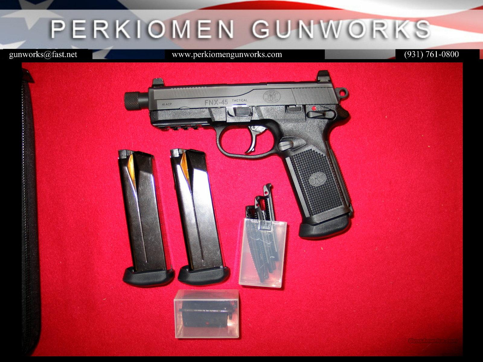 FNX-45 Tactical / Black, 45acp, New w/case  Guns > Pistols > FNH - Fabrique Nationale (FN) Pistols > FNP