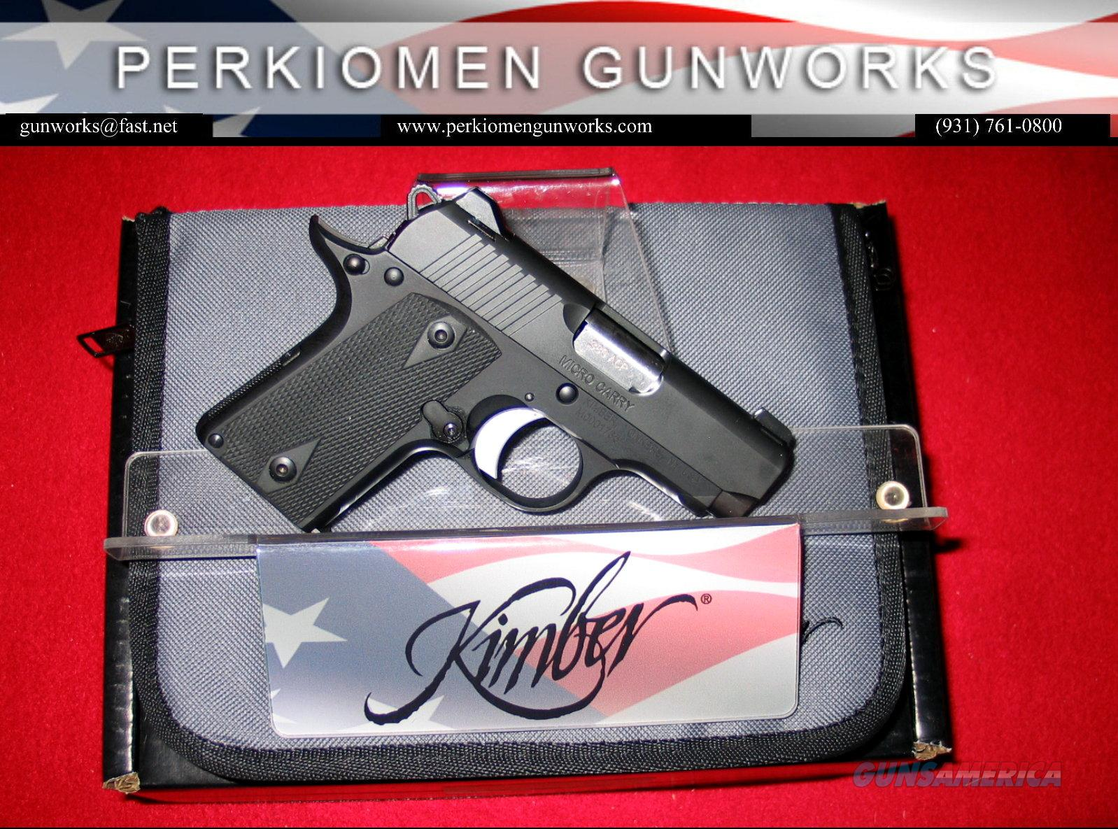 Micro Carry (Black),.380acp, New in Box  Guns > Pistols > Kimber of America Pistols
