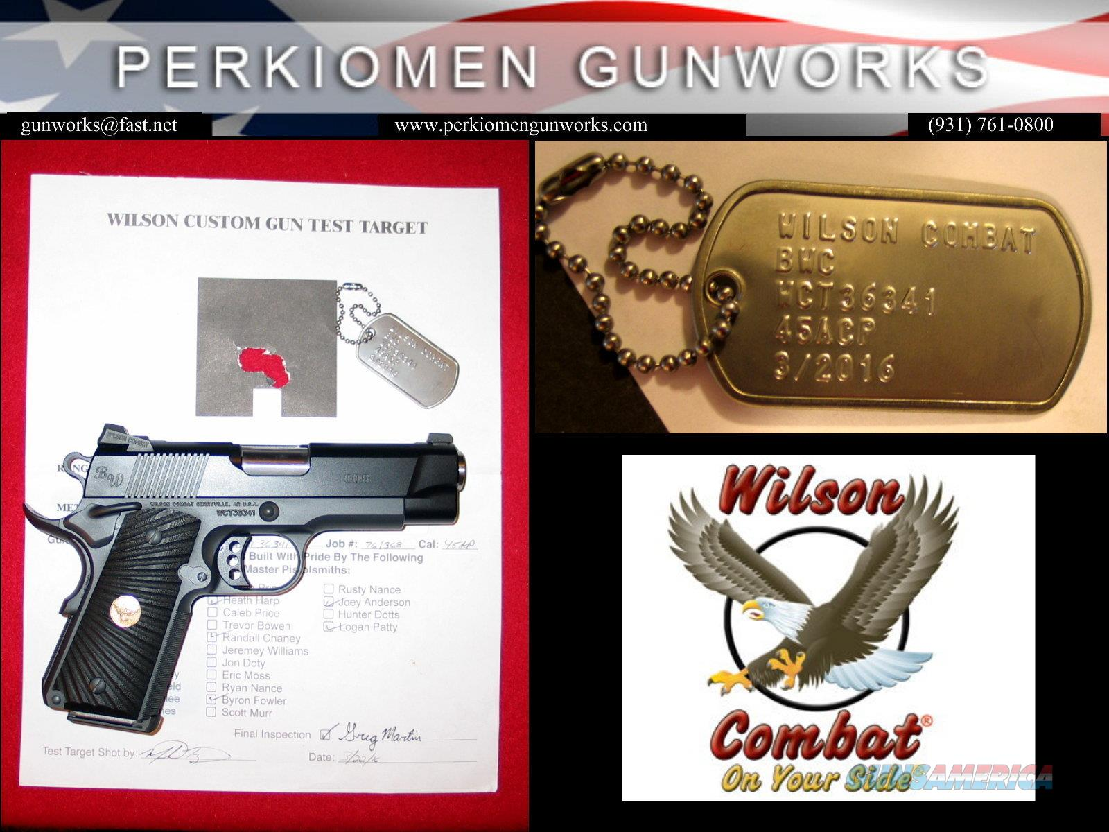Bill Wilson Carry, .45acp, Armor-Tuff, w/Options - New in Case  Guns > Pistols > Wilson Combat Pistols