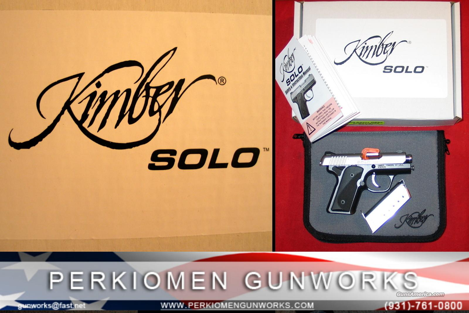 Solo Carry 9MM Mini-Compact - NEW  Guns > Pistols > Kimber of America Pistols