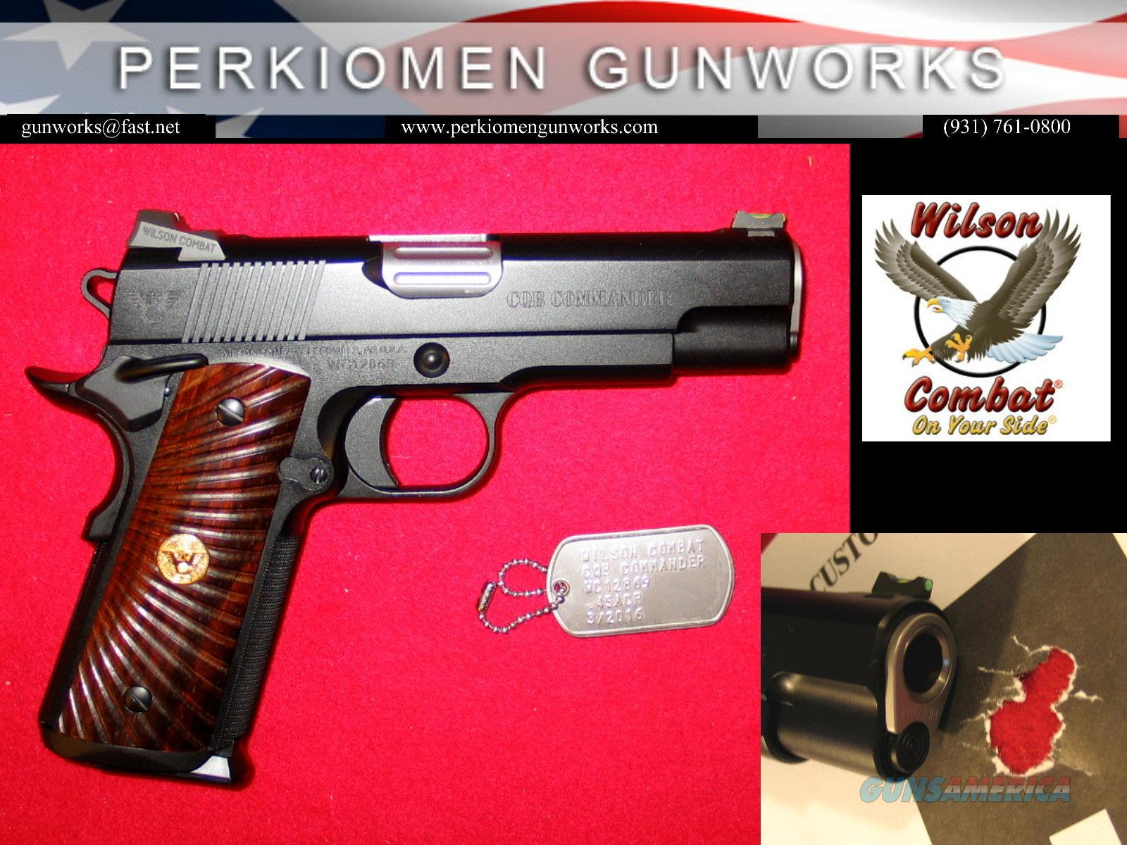 CQB Commander Armor-Tuff .45acp with Upgrades, New in case.  Guns > Pistols > Wilson Combat Pistols