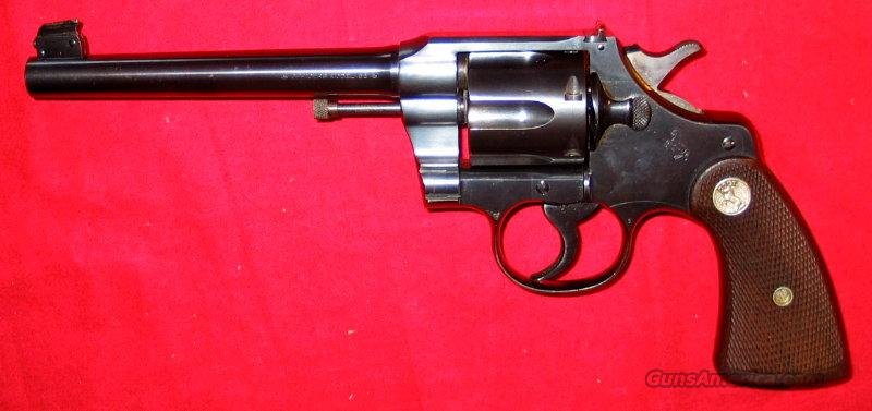 Officer's Model Match (2nd Issue) .38  Guns > Pistols > Colt Double Action Revolvers- Pre-1945