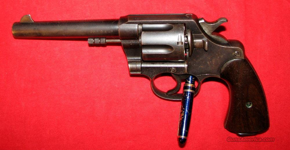 New Service US Army 1909  Guns > Pistols > Colt Double Action Revolvers- Pre-1945