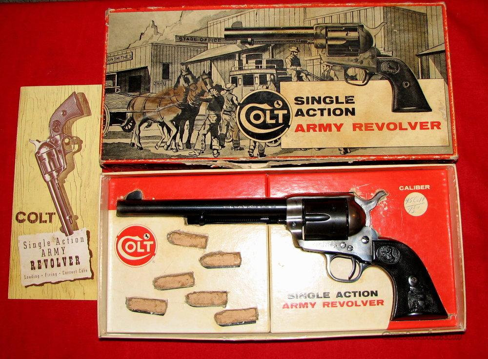 "SAA 45LC 7.5"" w/box  Guns > Pistols > Colt Single Action Revolvers - 2nd Gen."