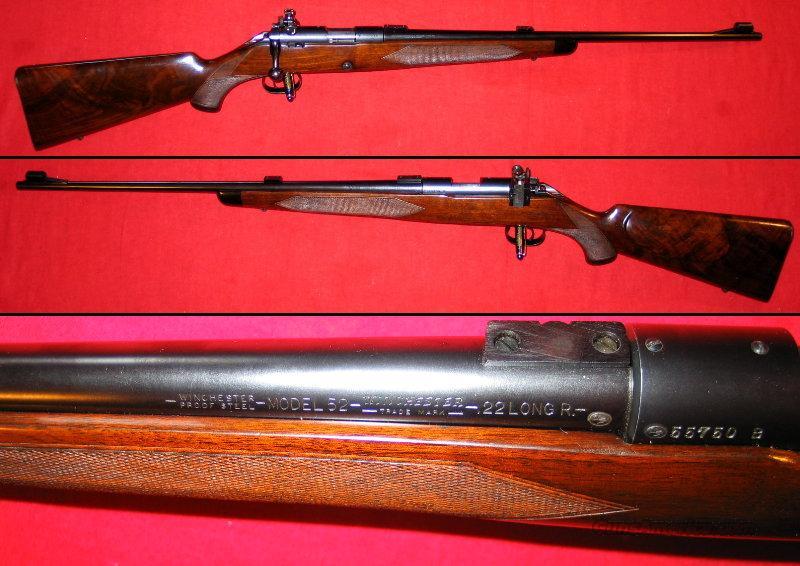 52-B Sporter dates 1946  Guns > Rifles > Winchester Rifles - Modern Bolt/Auto/Single > Other Bolt Action